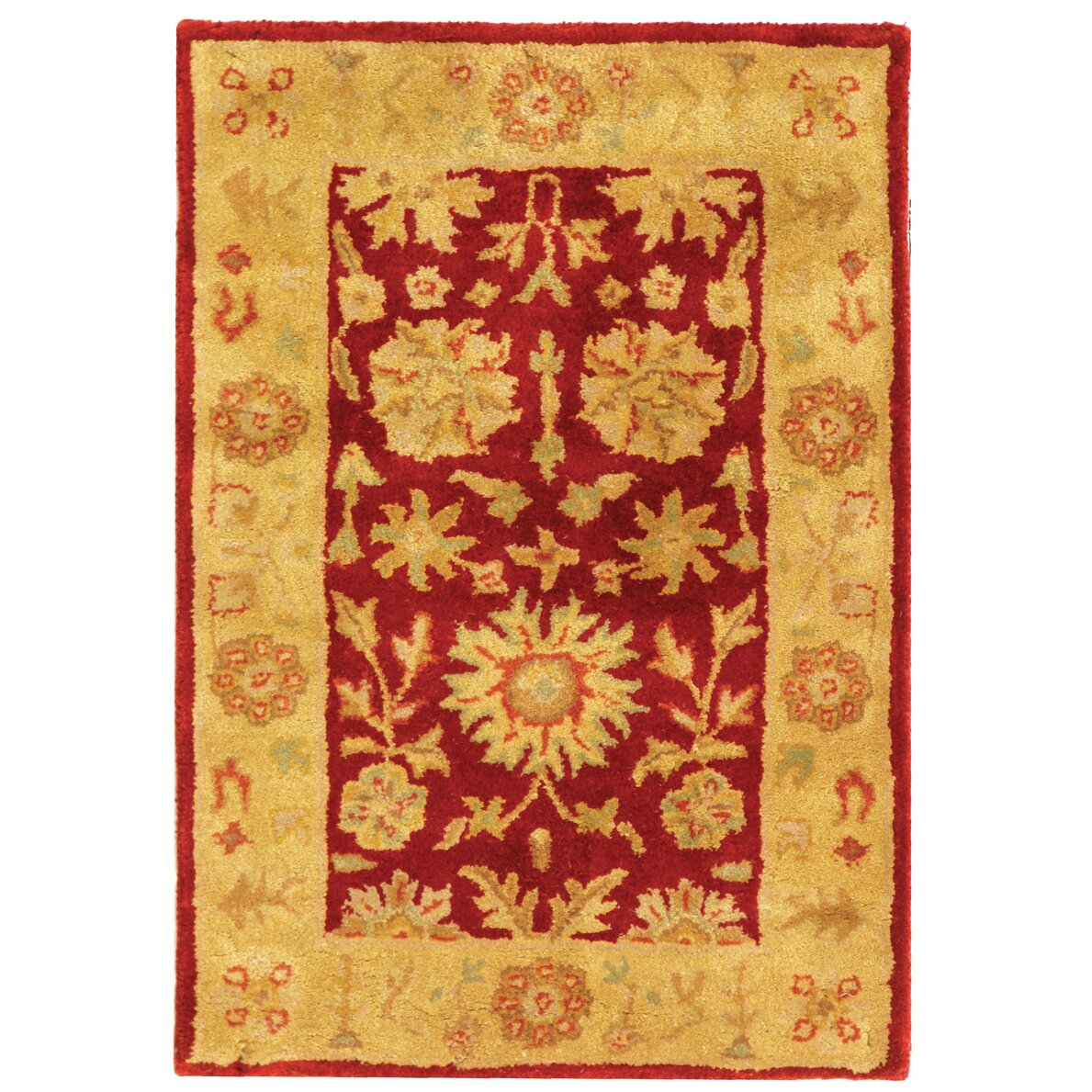 Astoria grand balthrop red gold floral area rug reviews for Red floral area rug
