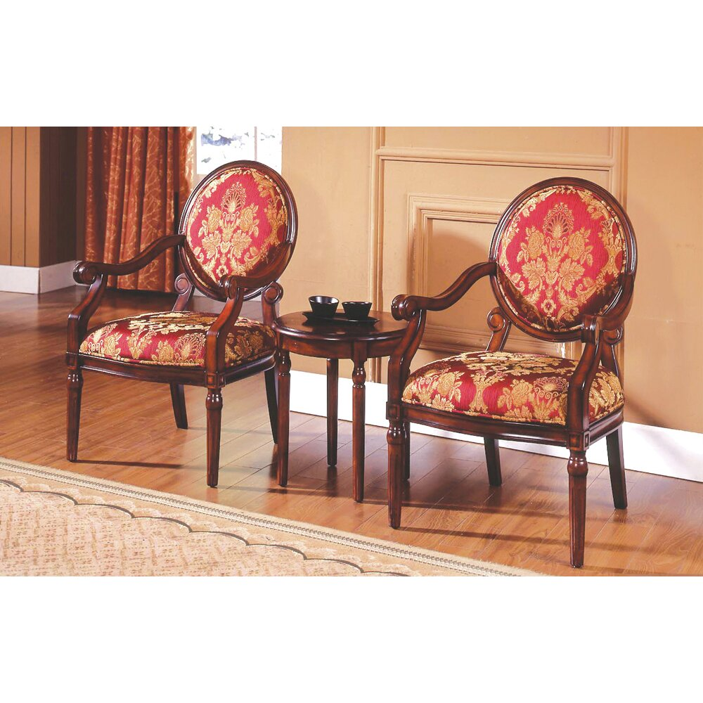 Astoria Grand Ambassador 3 Pieces Living Room Arm Chair Set Reviews W