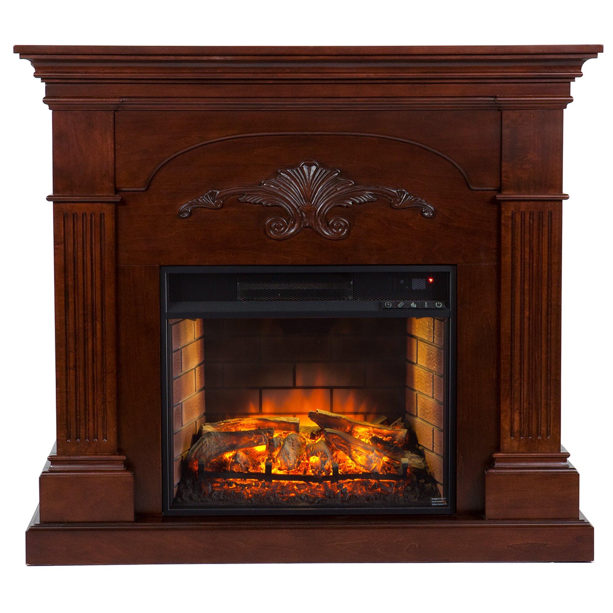 Astoria Grand Dollison Infrared Electric Fireplace Reviews Wayfair