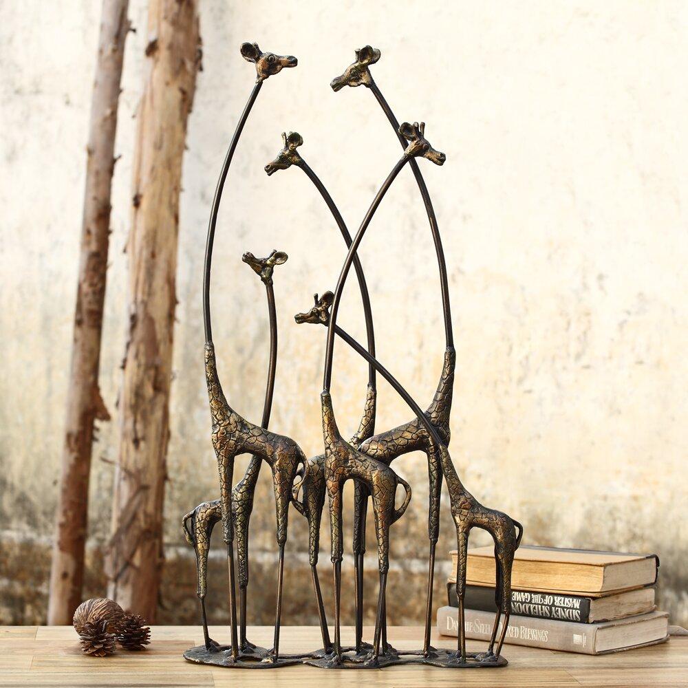 World Menagerie Aymeric Decorative Towering Giraffe Herd ...