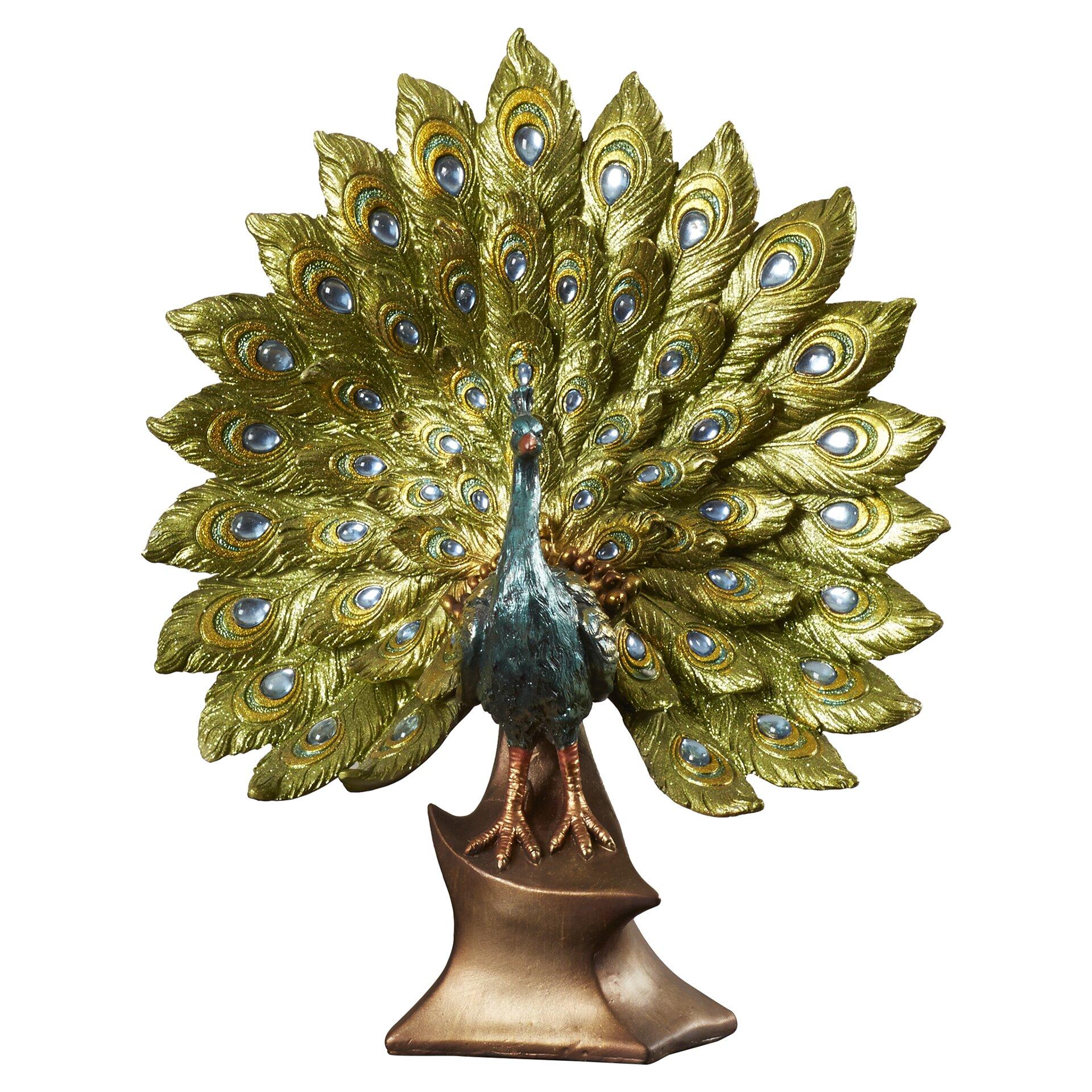 World Menagerie Peacock Decor Figurine Reviews Wayfair