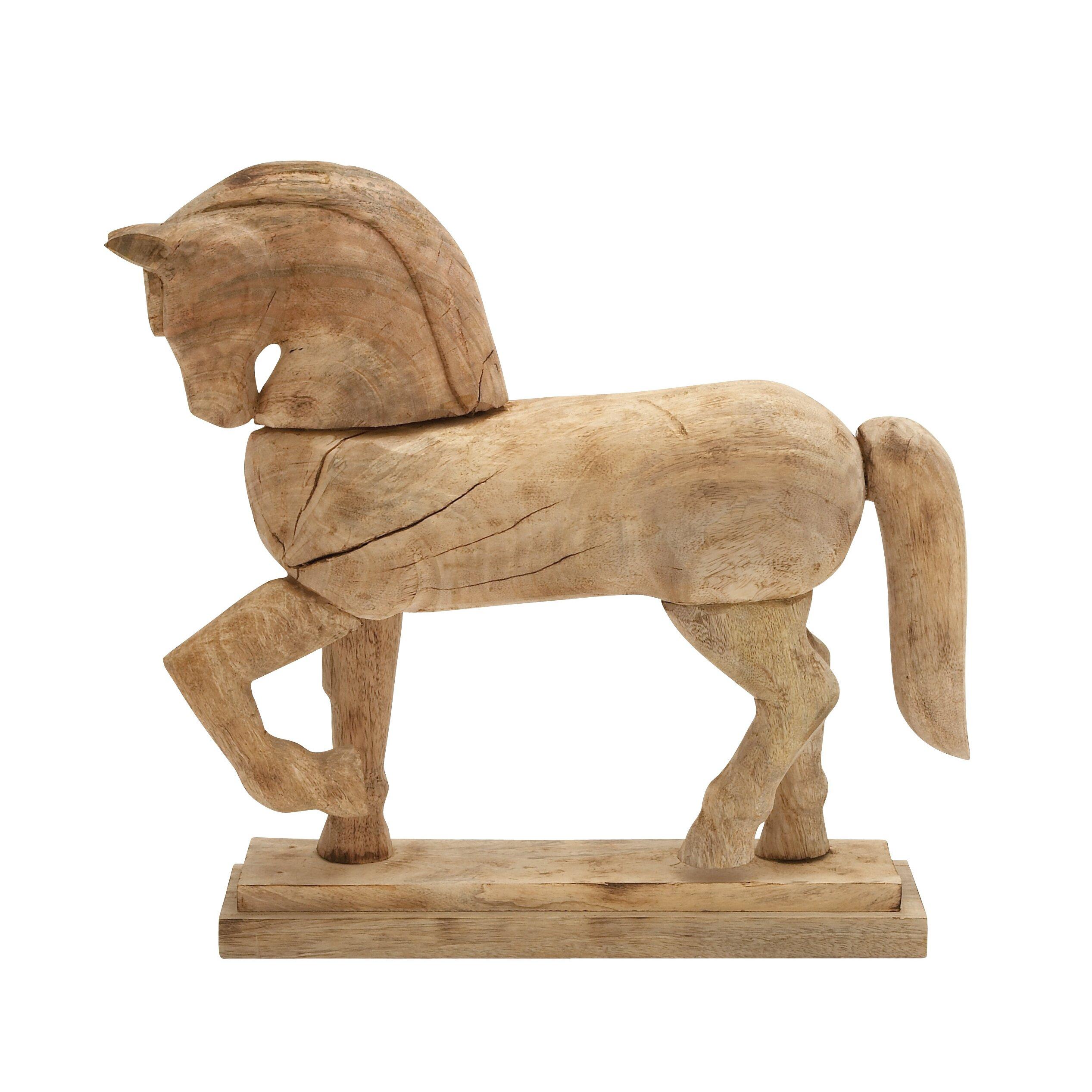 World Menagerie Home D Cor Horse Figurine Wayfair