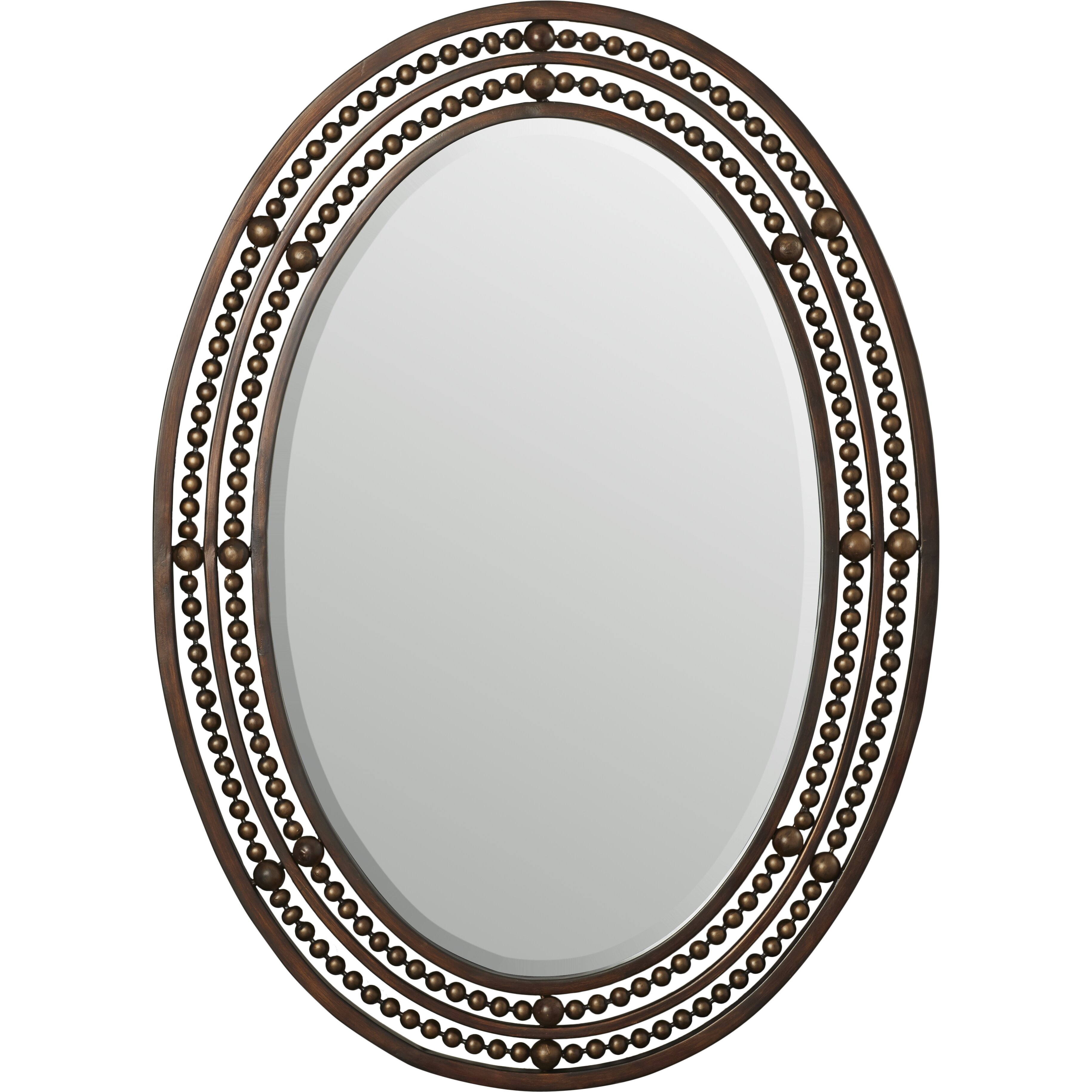 World menagerie oval wall mirror reviews wayfair for Oval wall mirror