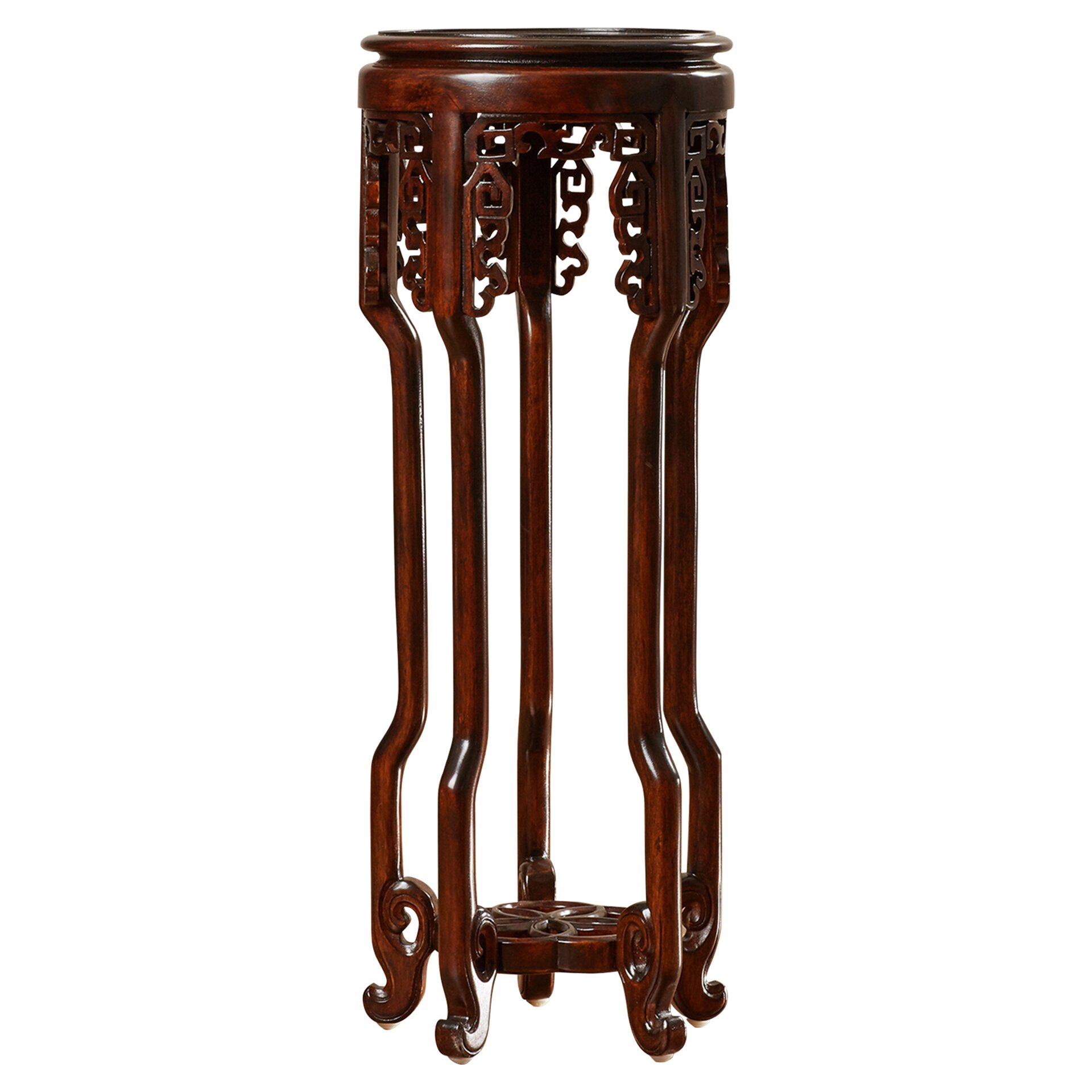 World Menagerie Solid Wood Mahogany Pedestal Plant Stand  : Pedestal Plant Stand WDMG1099 from www.wayfair.com size 1920 x 1920 jpeg 315kB