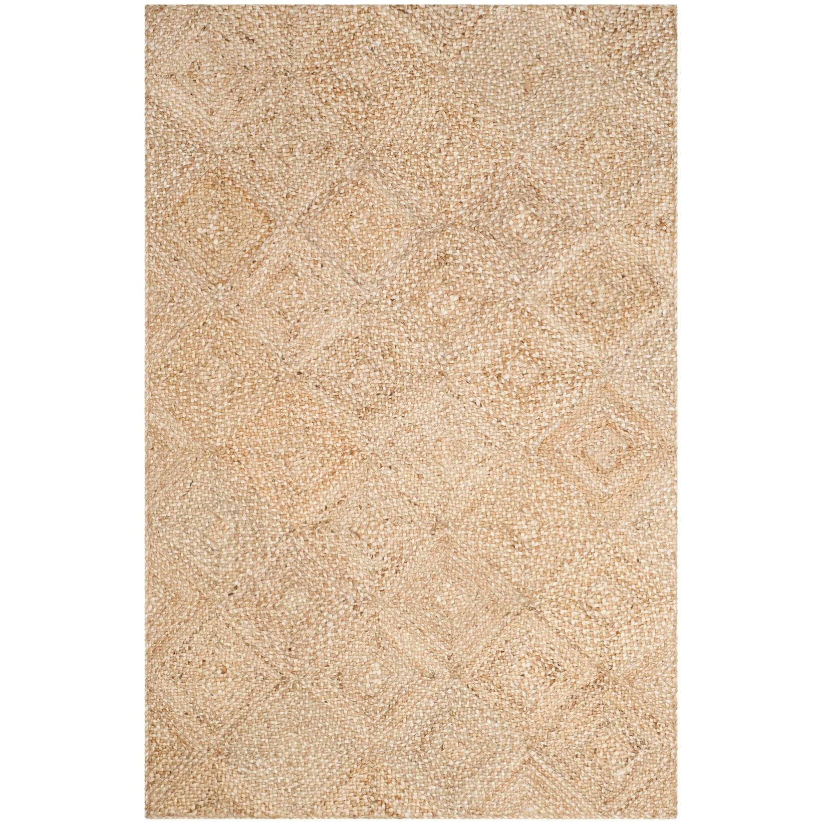 My Dog Ate Carpet Fibers: World Menagerie Abrahams Hand-Woven Beige Area Rug