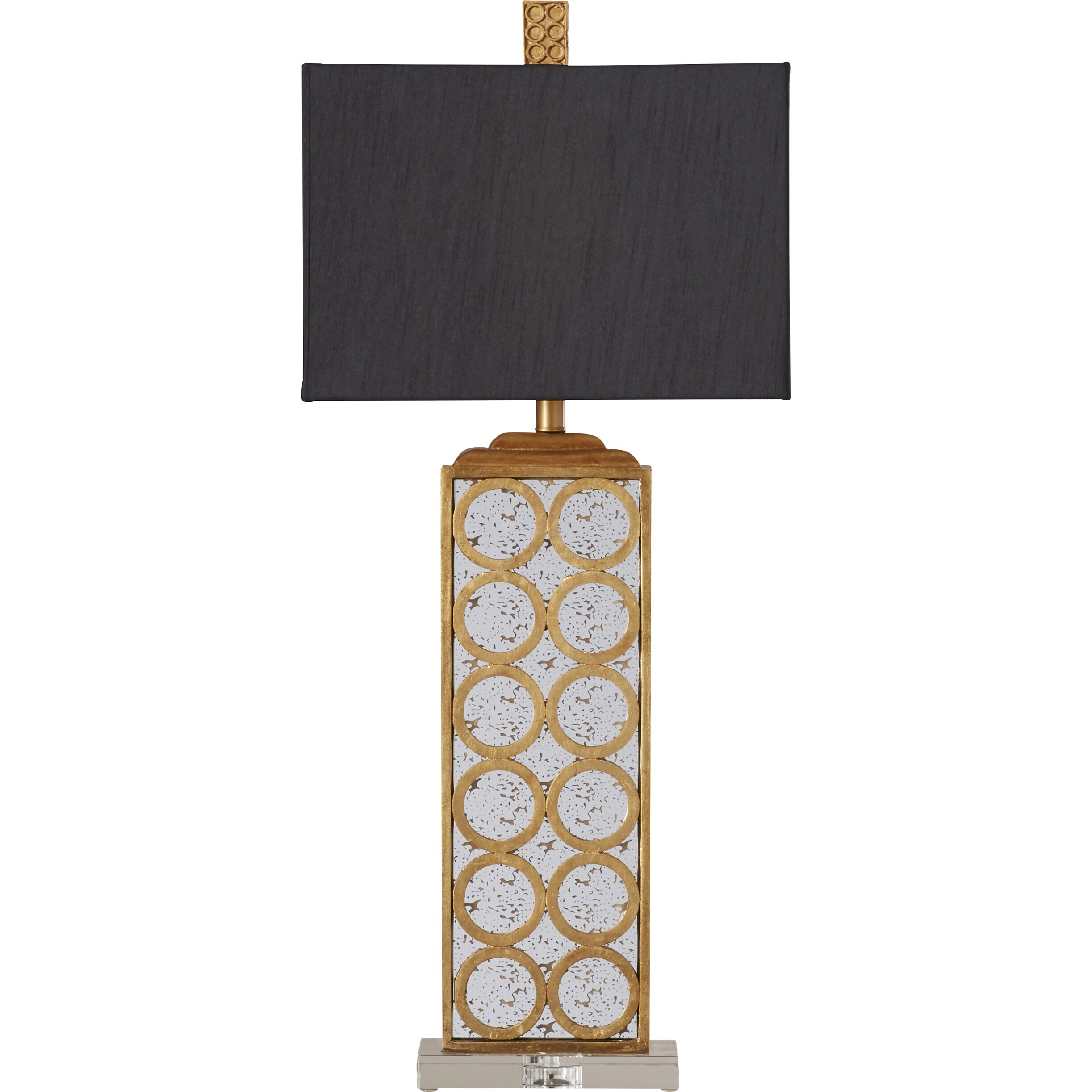 World Menagerie Gautam 33 Quot H Table Lamp With Rectangular