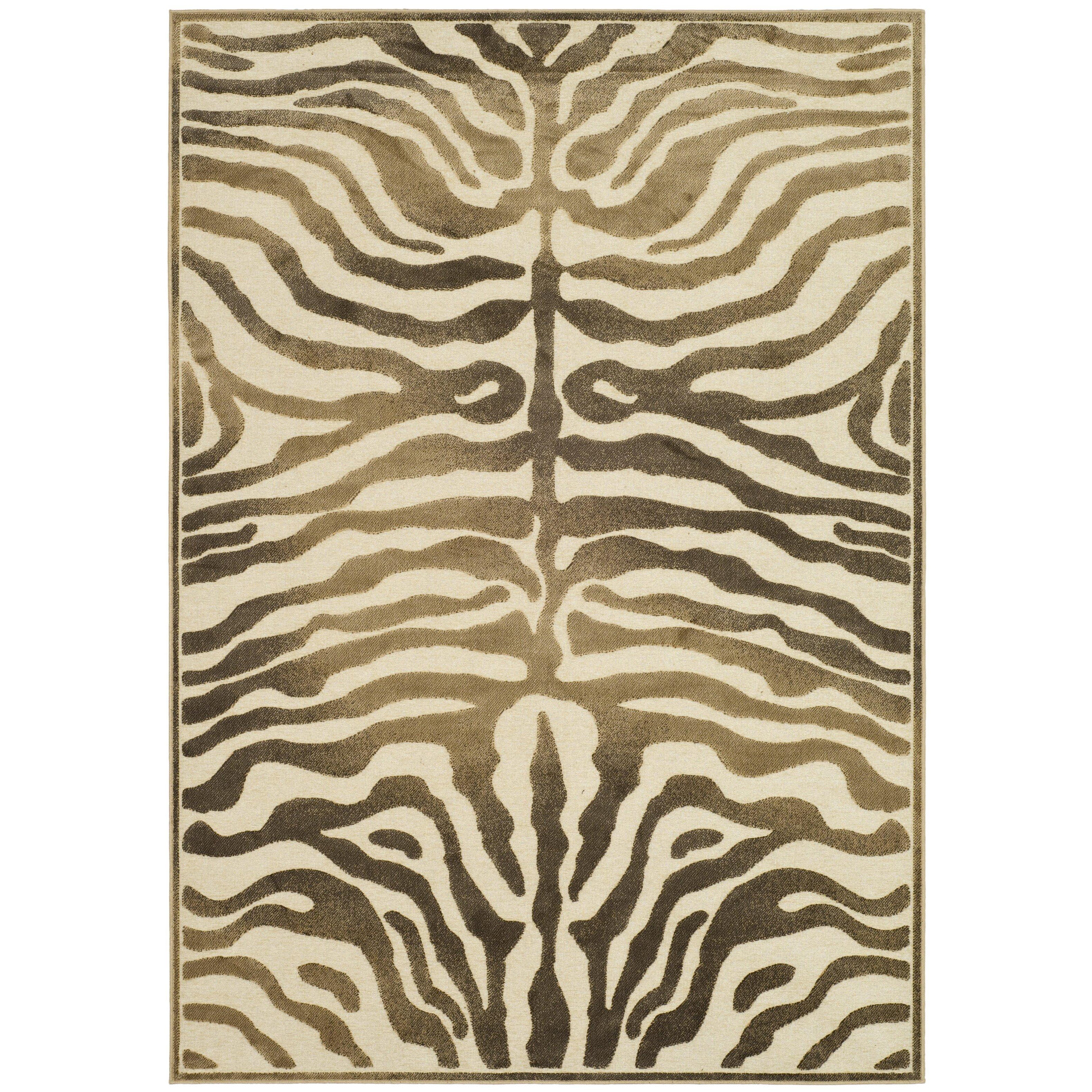 Zebra Rug Wayfair: World Menagerie Linden Zebra Brown Area Rug & Reviews