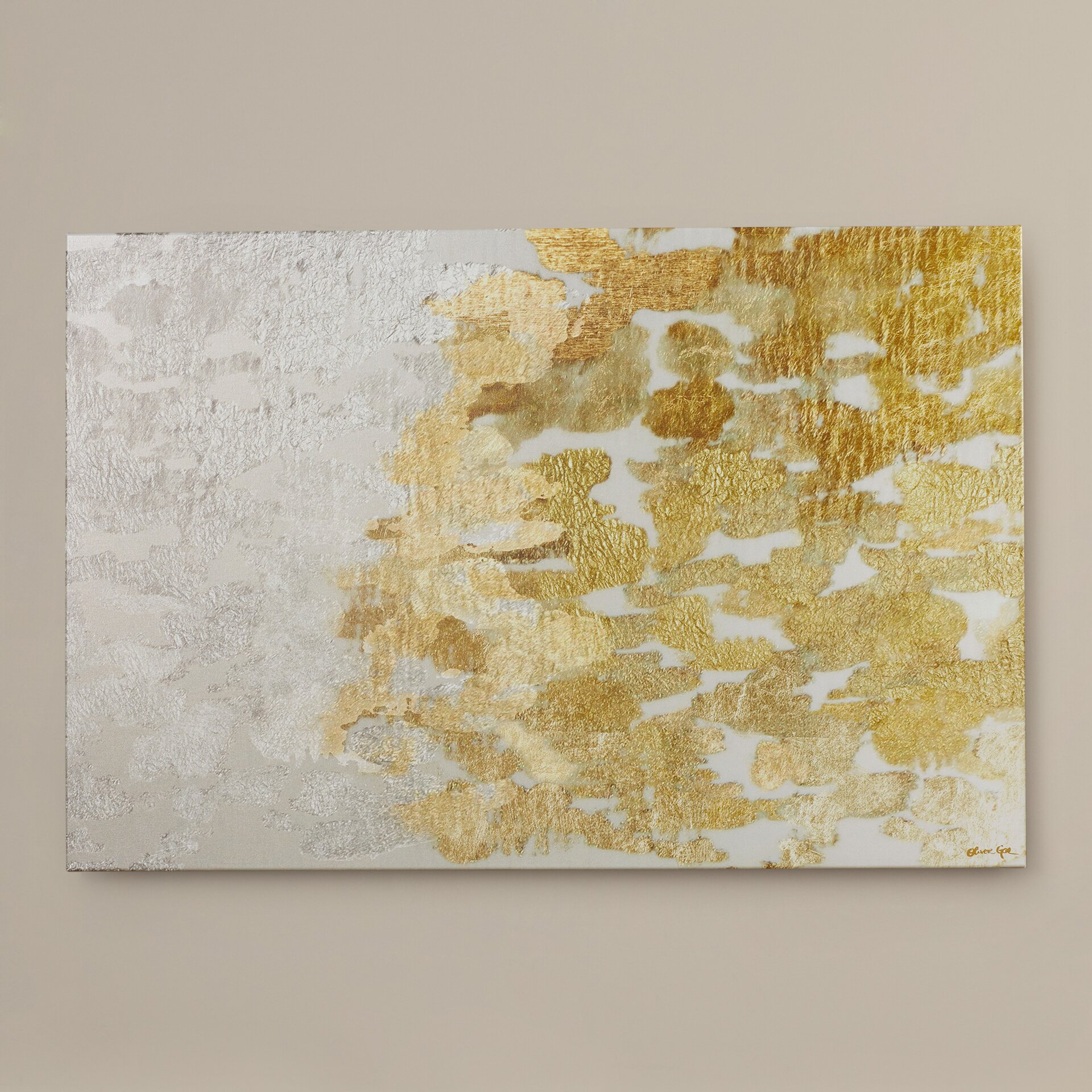 Mercer41 39 coe gold and platinum 39 by oliver gal painting for Gold paintings on canvas
