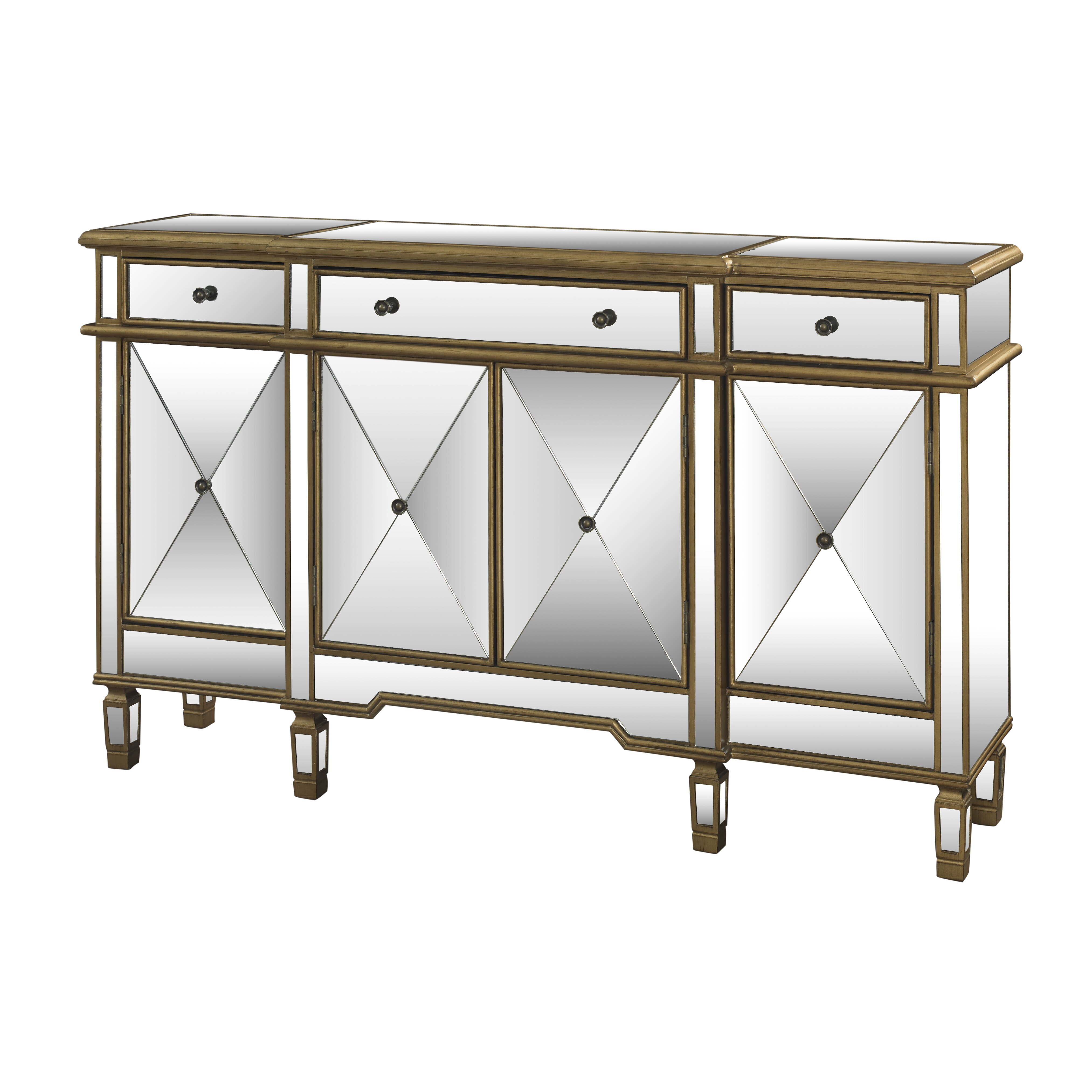 Mercer41 Jaffe 3 Drawer Mirrored Console Table Reviews
