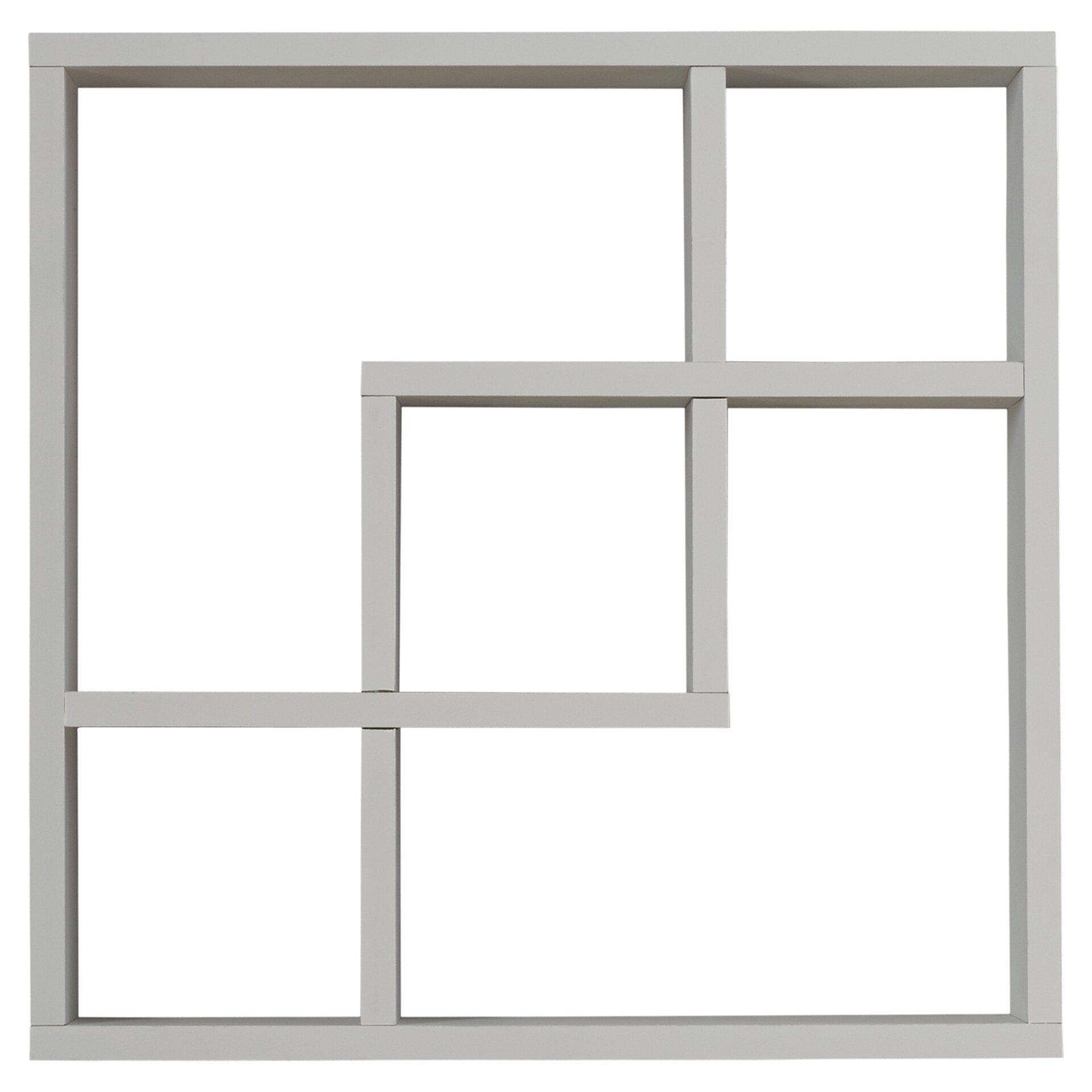 Mercer41 Freed Geometric Square Wall Shelf Reviews Wayfair