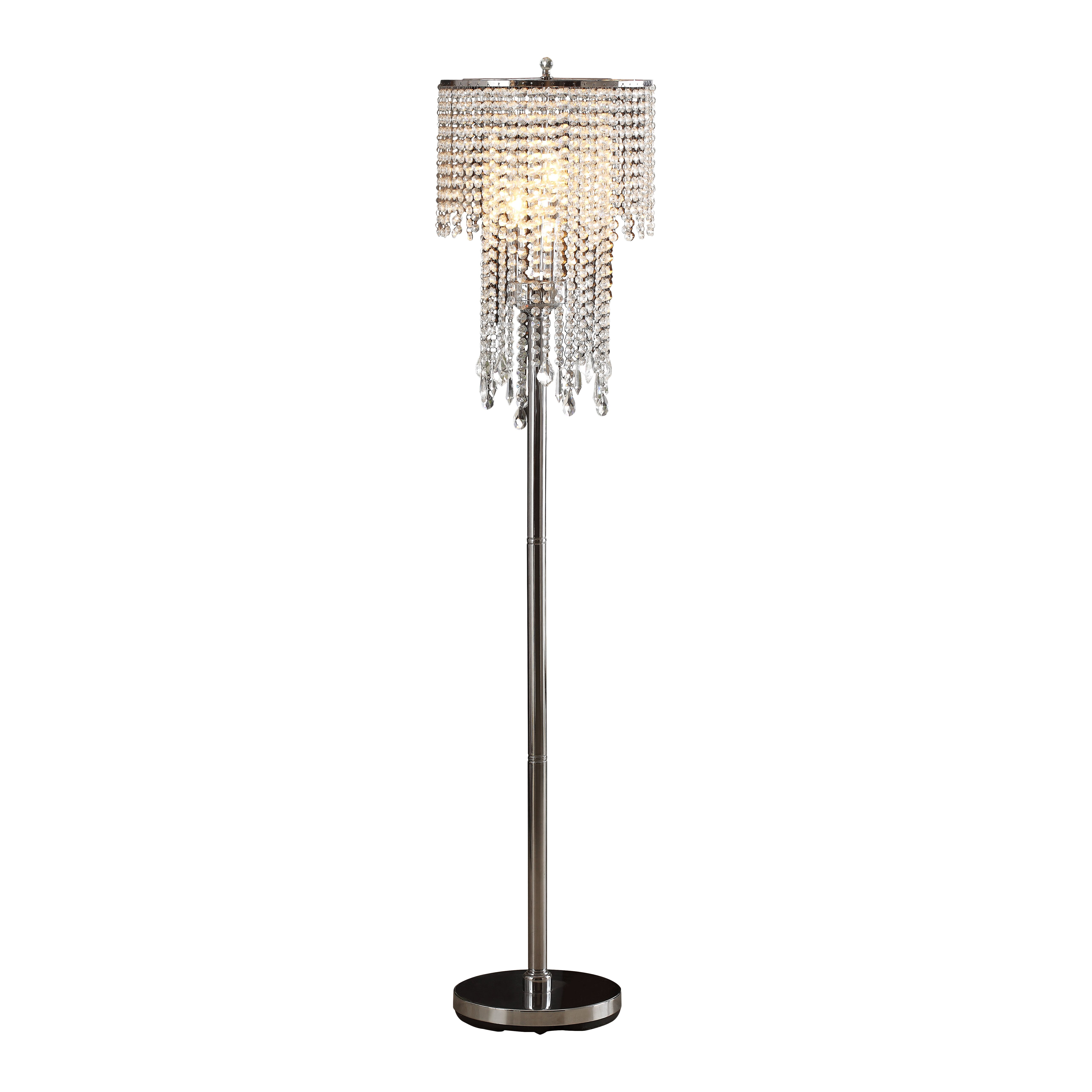 Mercer41 tillinger 63quot 3 light crystal floor lamp for 3 light crystal floor lamp