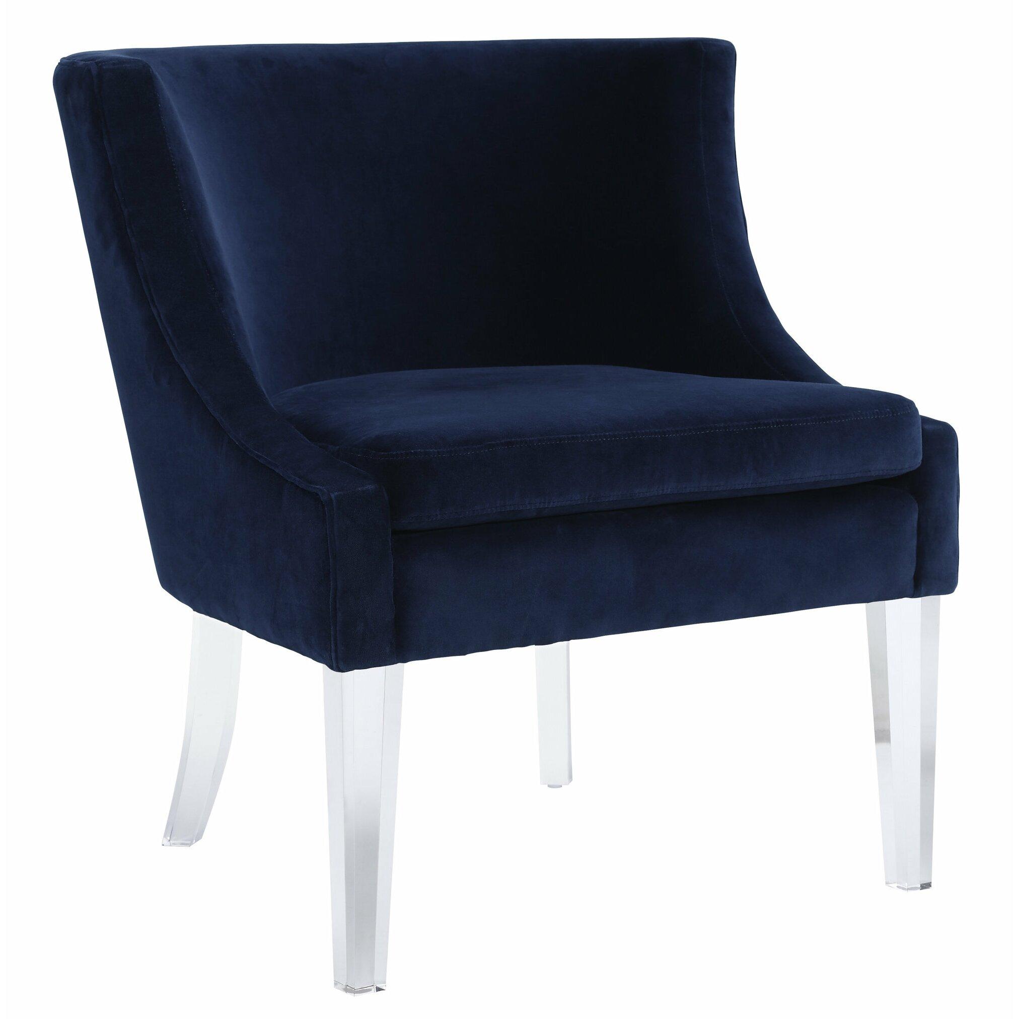 Mercer41 Amber Velvet Arm Chair Amp Reviews Wayfair