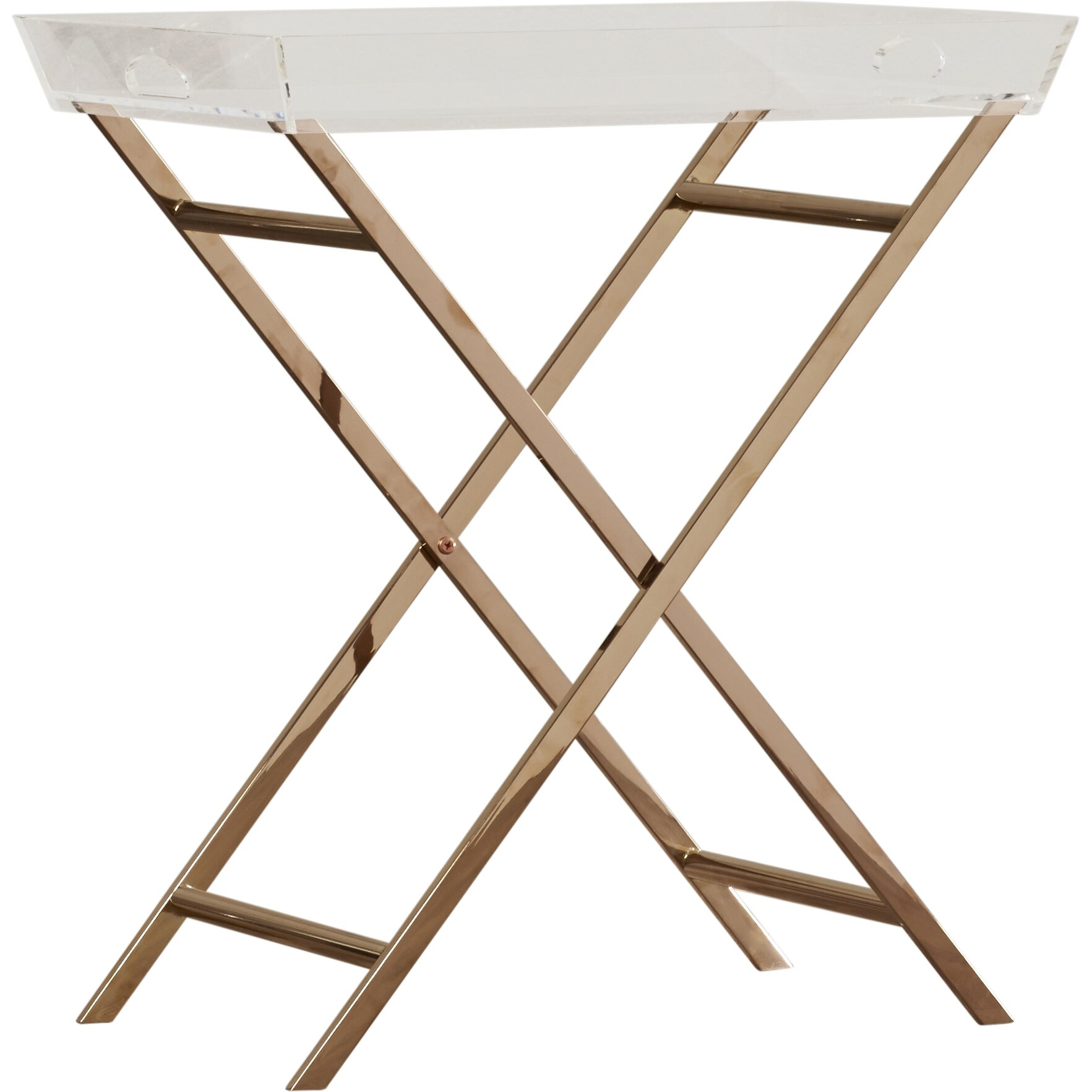 Mercer41 Fort Pierce Acrylic Tray Table Amp Reviews Wayfair
