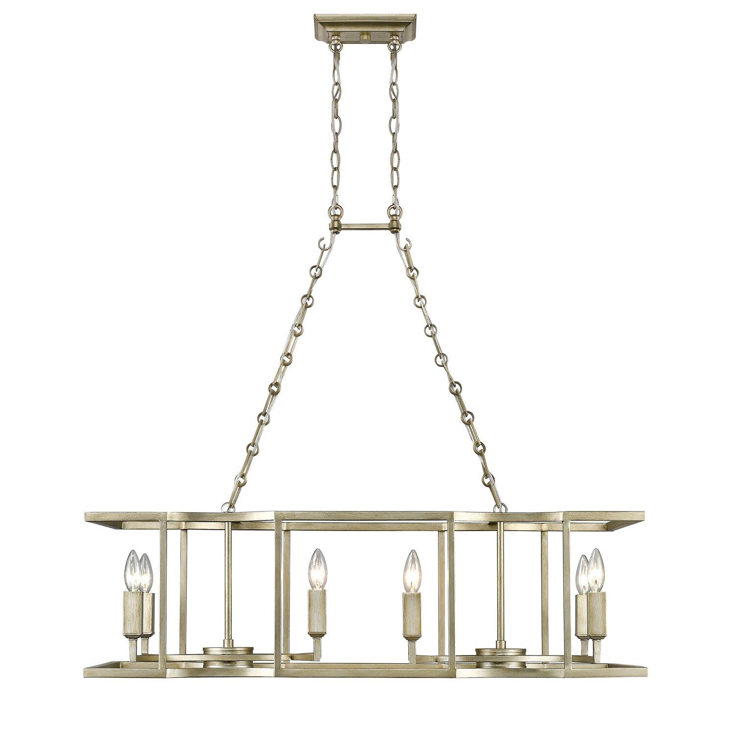 mercer41 dawson 8 light kitchen island pendant wayfair. Black Bedroom Furniture Sets. Home Design Ideas
