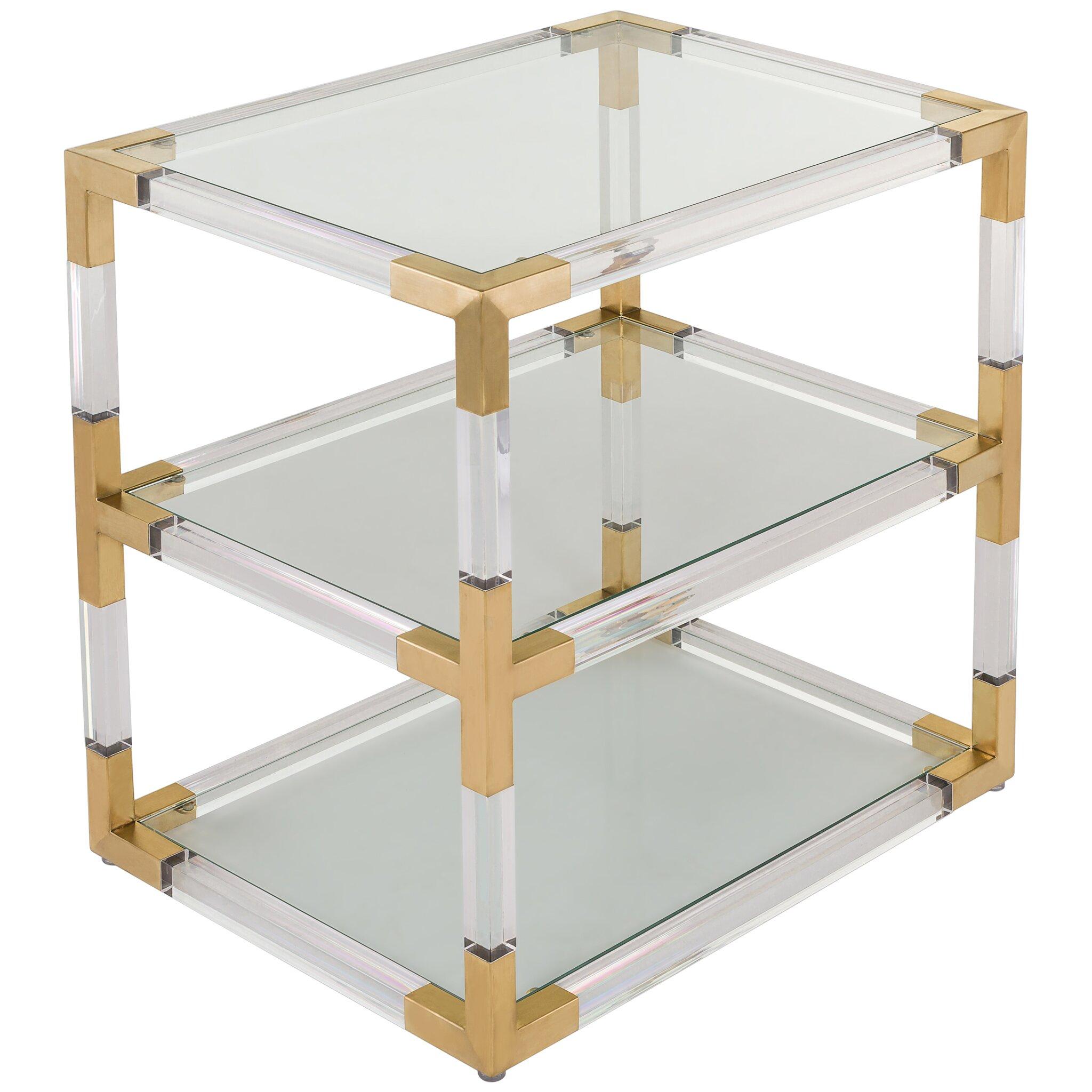 Mercer41 Caine Acrylic End Table