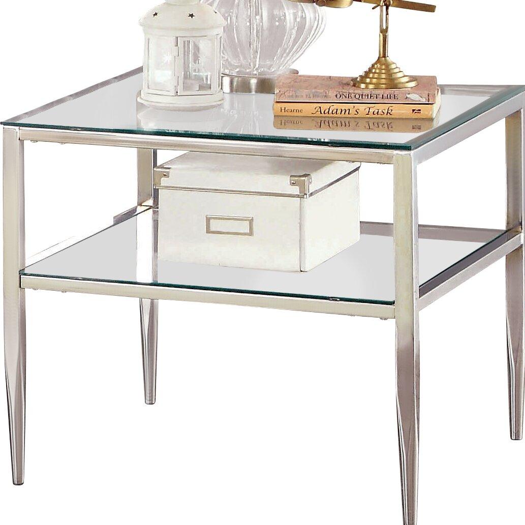 mercer41 travolta open shelf end table reviews wayfair. Black Bedroom Furniture Sets. Home Design Ideas