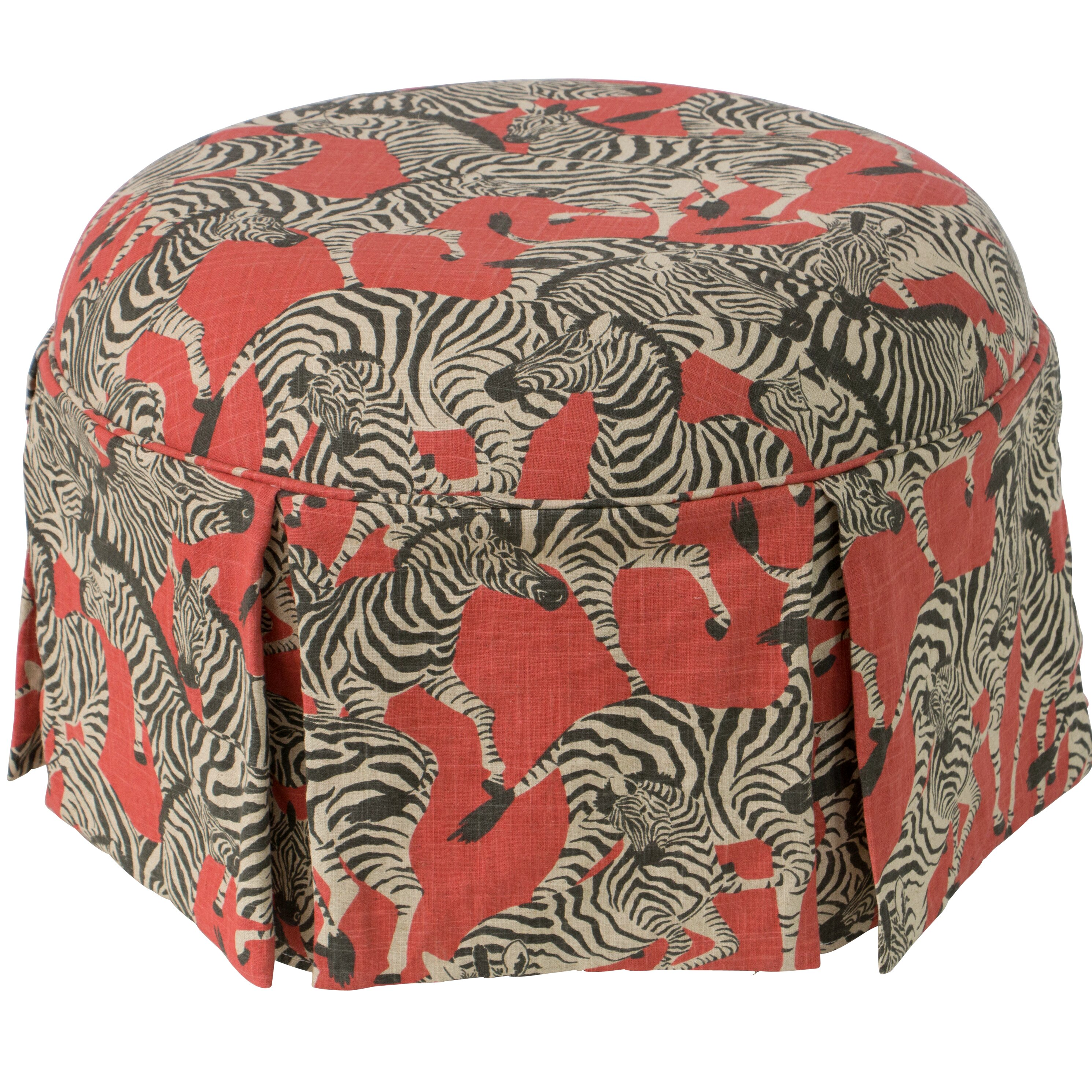 The Dining Rooms Oswestry: Mercer41 Oswestry Round Skirted Ottoman