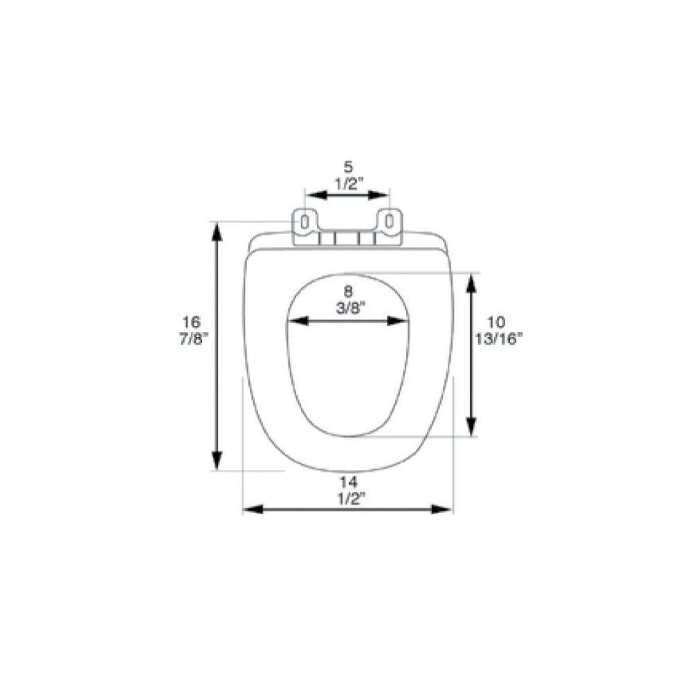 PlumbingTechnologiesLLC Deluxe Square Front MDF Wood Round Toilet Seat Wayfair