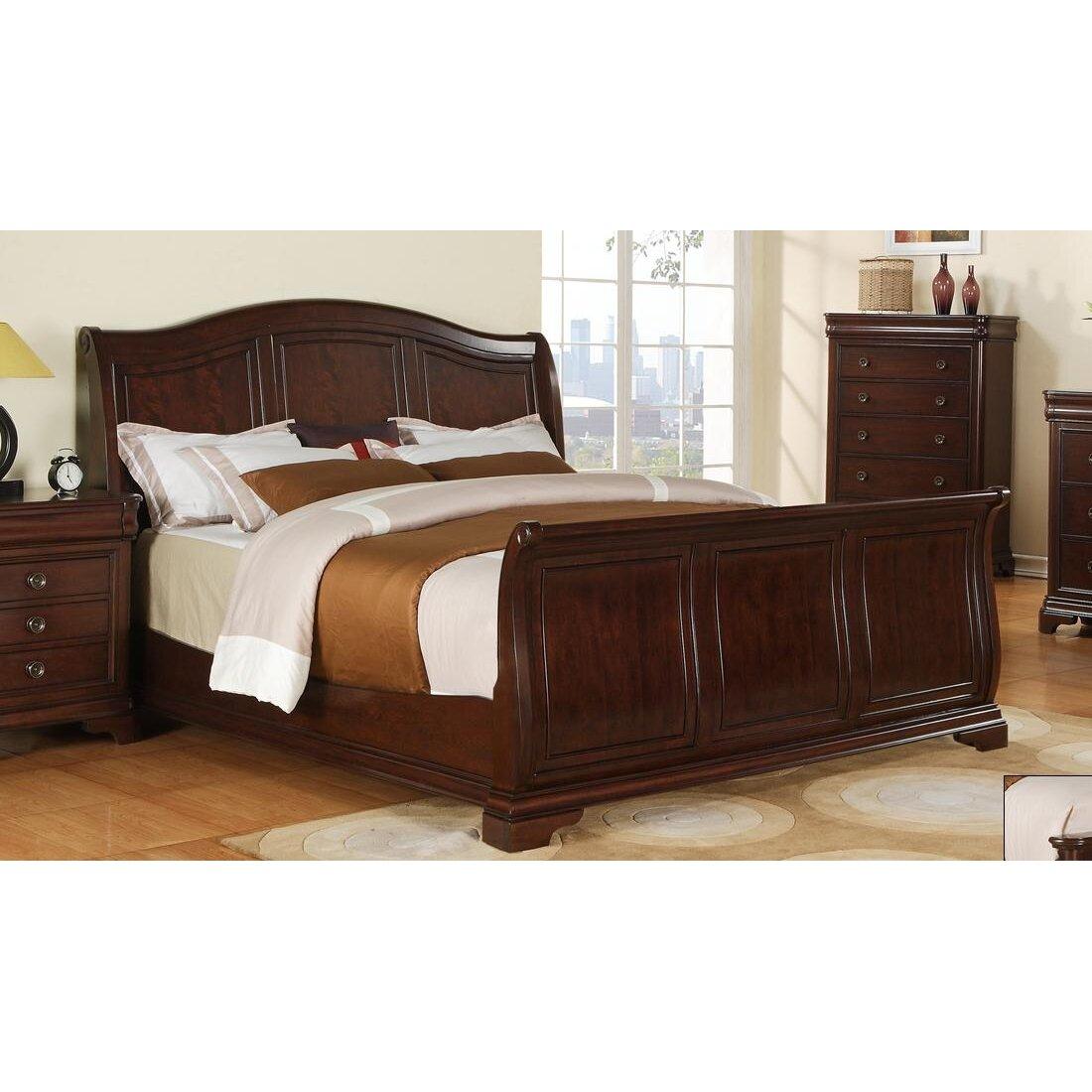 Rosalind Wheeler Macdougall Sleigh Bed Amp Reviews Wayfair