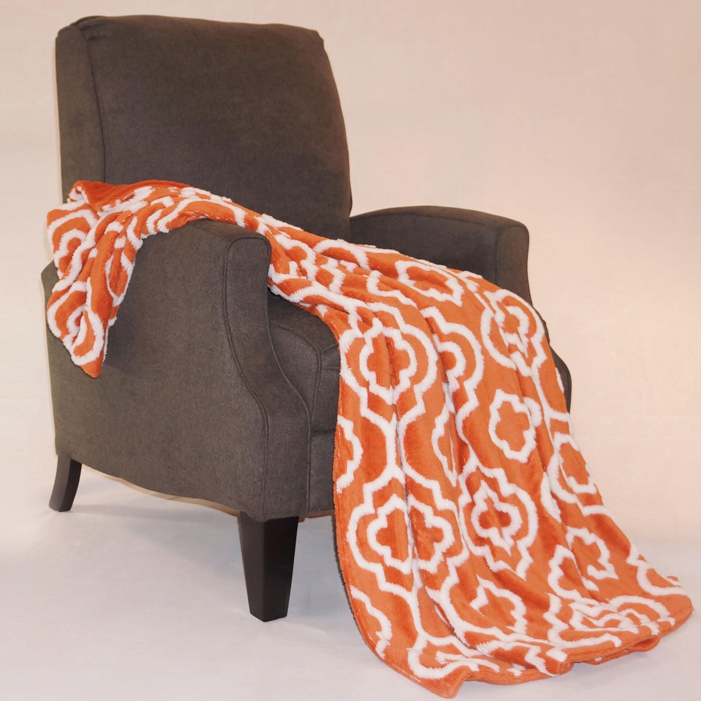 Boon Throw Blanket Jacquard Sherpa Throw Blanket