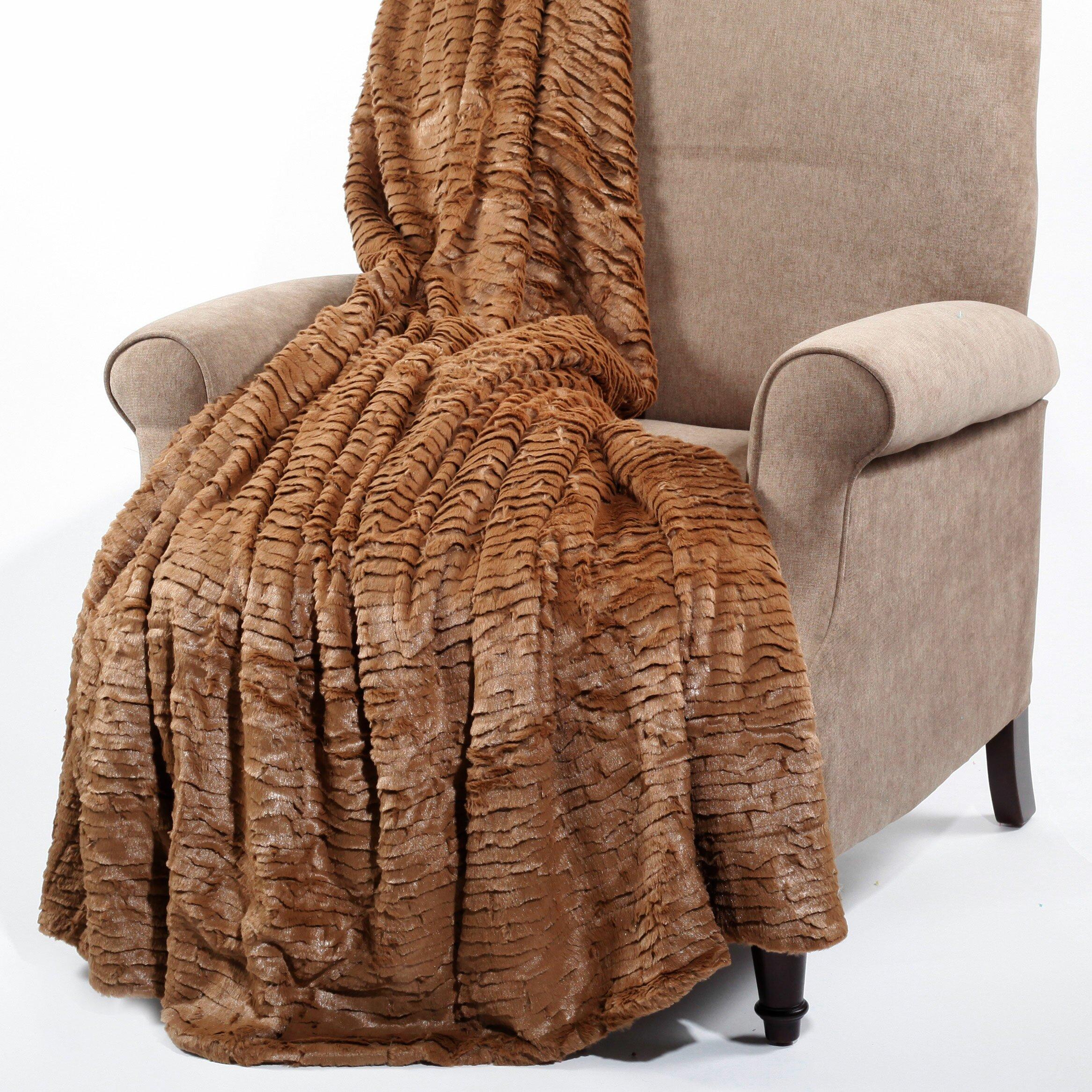 boon throw blanket air brushed colleen faux fur throw blanket reviews wayfair. Black Bedroom Furniture Sets. Home Design Ideas