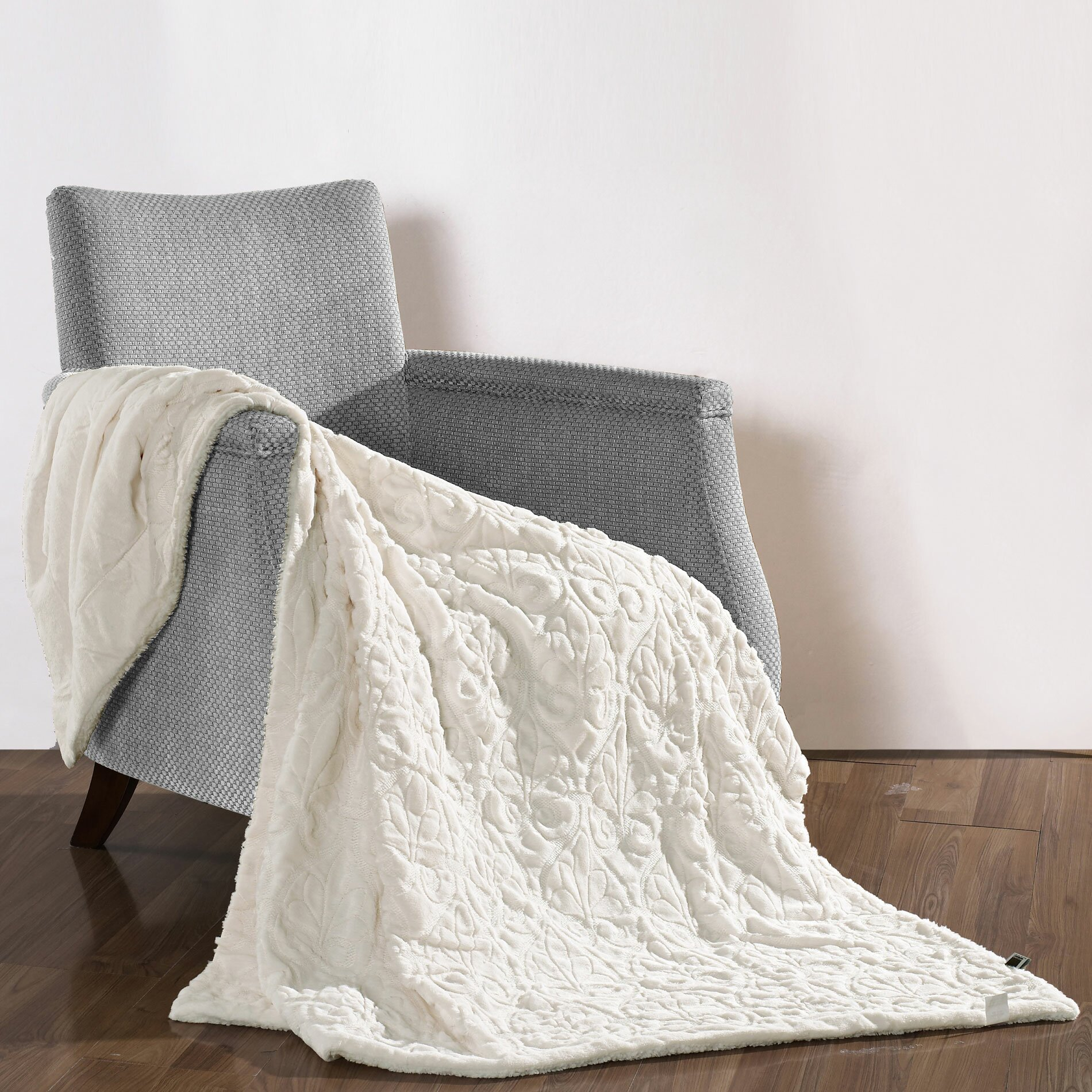 Boon throw blanket pamila faux fur sherpa throw for Sherpa blanket