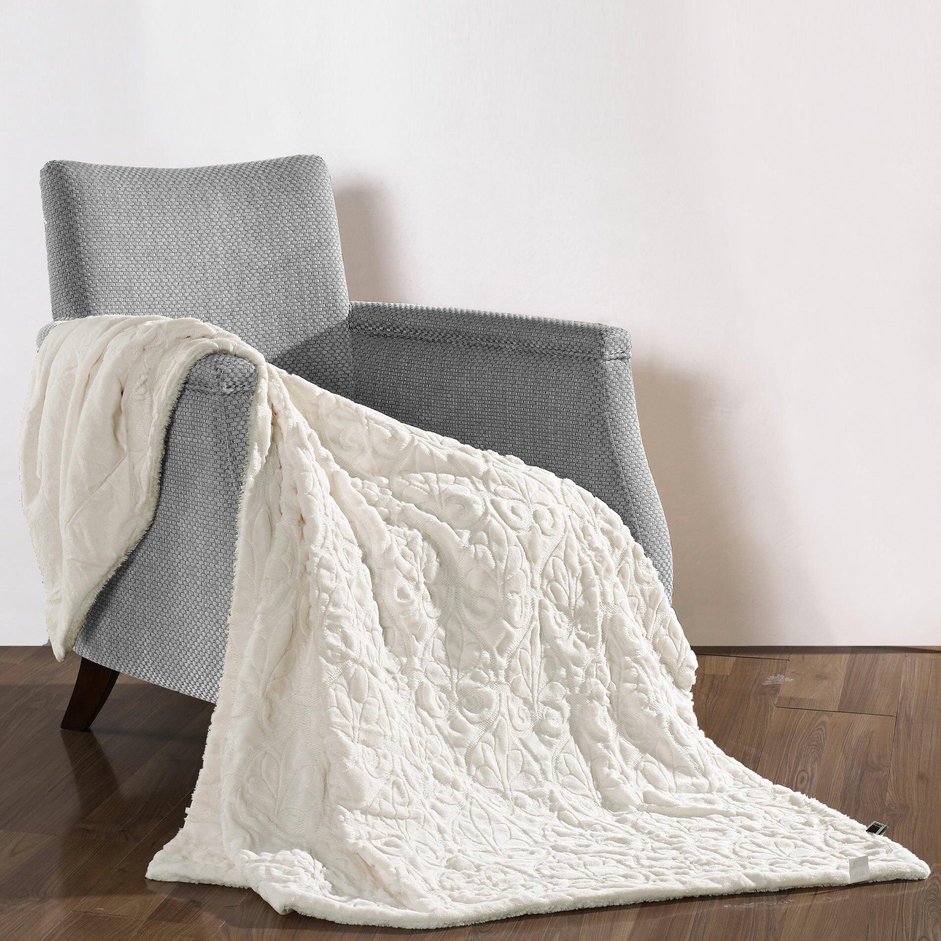 boon throw blanket pamila faux fur sherpa throw reviews wayfair. Black Bedroom Furniture Sets. Home Design Ideas