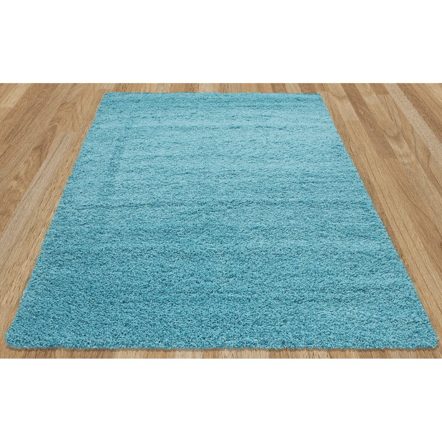 Sweet Home Stores Cozy Turquoise Blue Area Rug Reviews