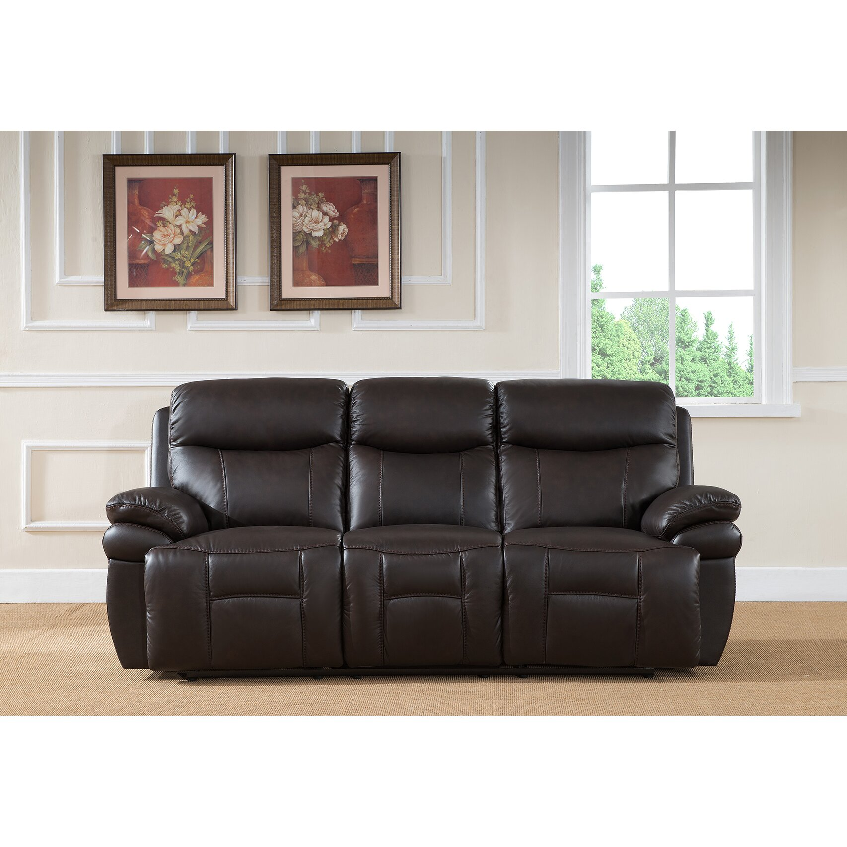 Amax rushmore 3 piece leather living room set reviews for Leather living room sets