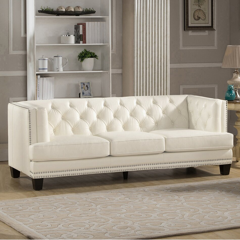 Amax Newport 3 Piece Leather Living Room Set Reviews