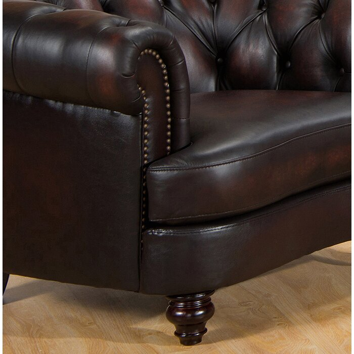 Leather Sofas Reviews: Amax Roosevelt Leather Sofa & Reviews