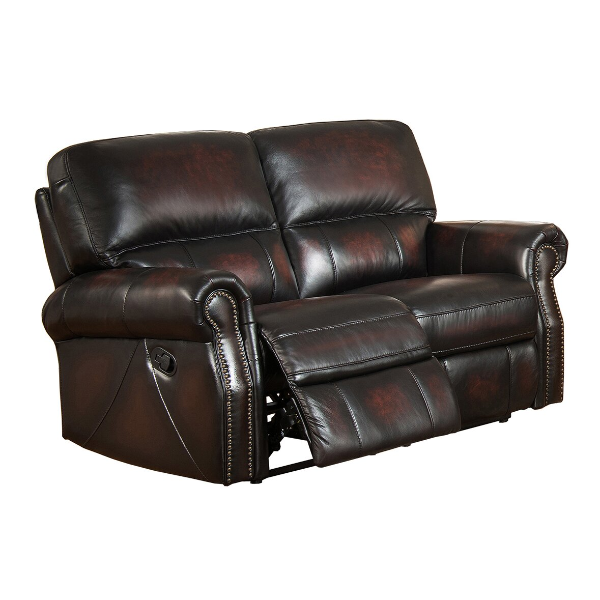 Amax nevada leather recliner sofa and loveseat set wayfair Leather loveseat recliners