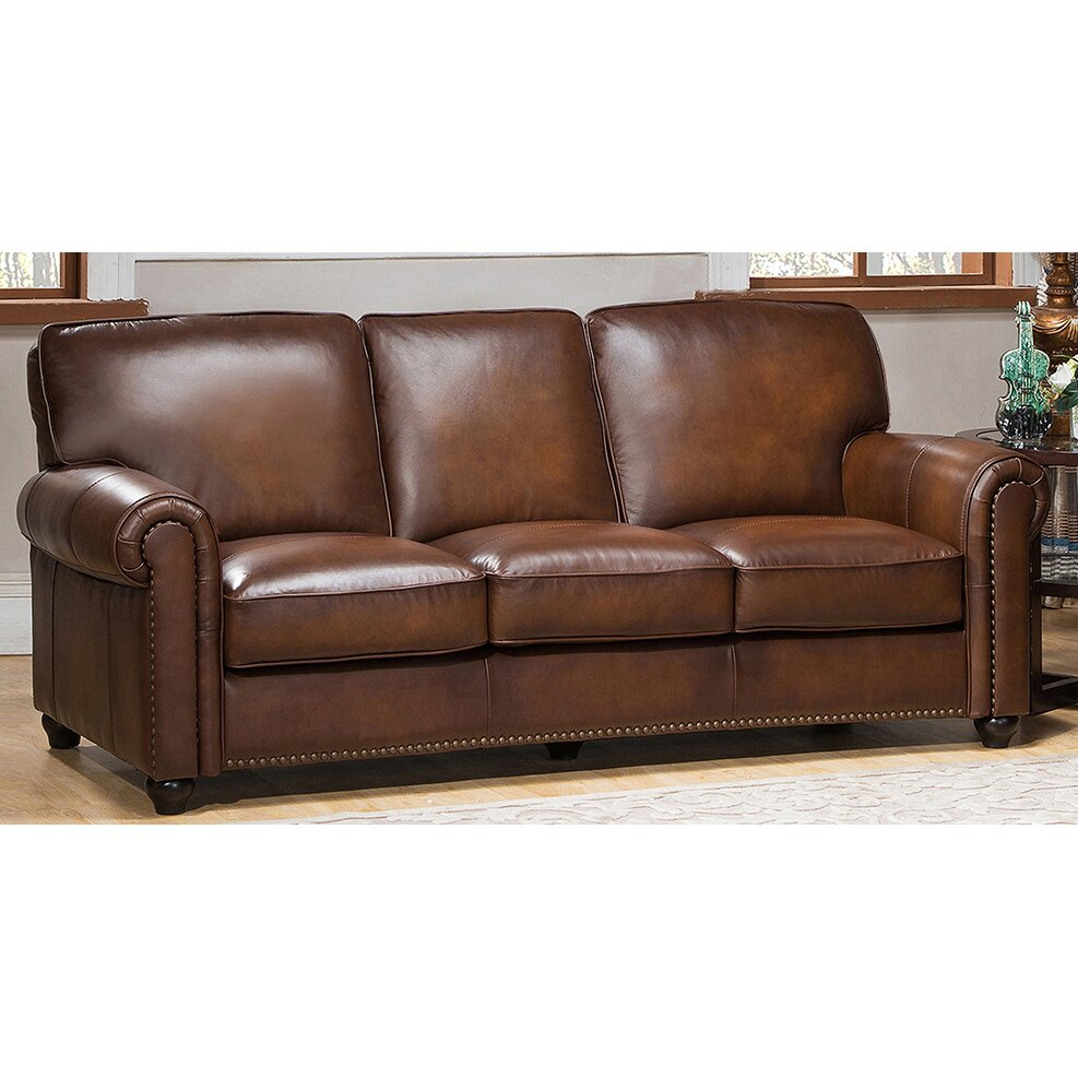 amax aspen 3 piece leather living room set wayfair