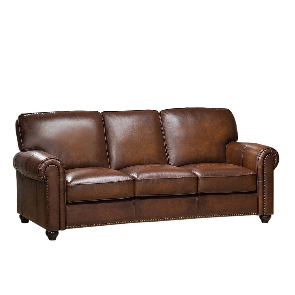 Amax Aspen Leather Sofa Amp Reviews Wayfair Ca