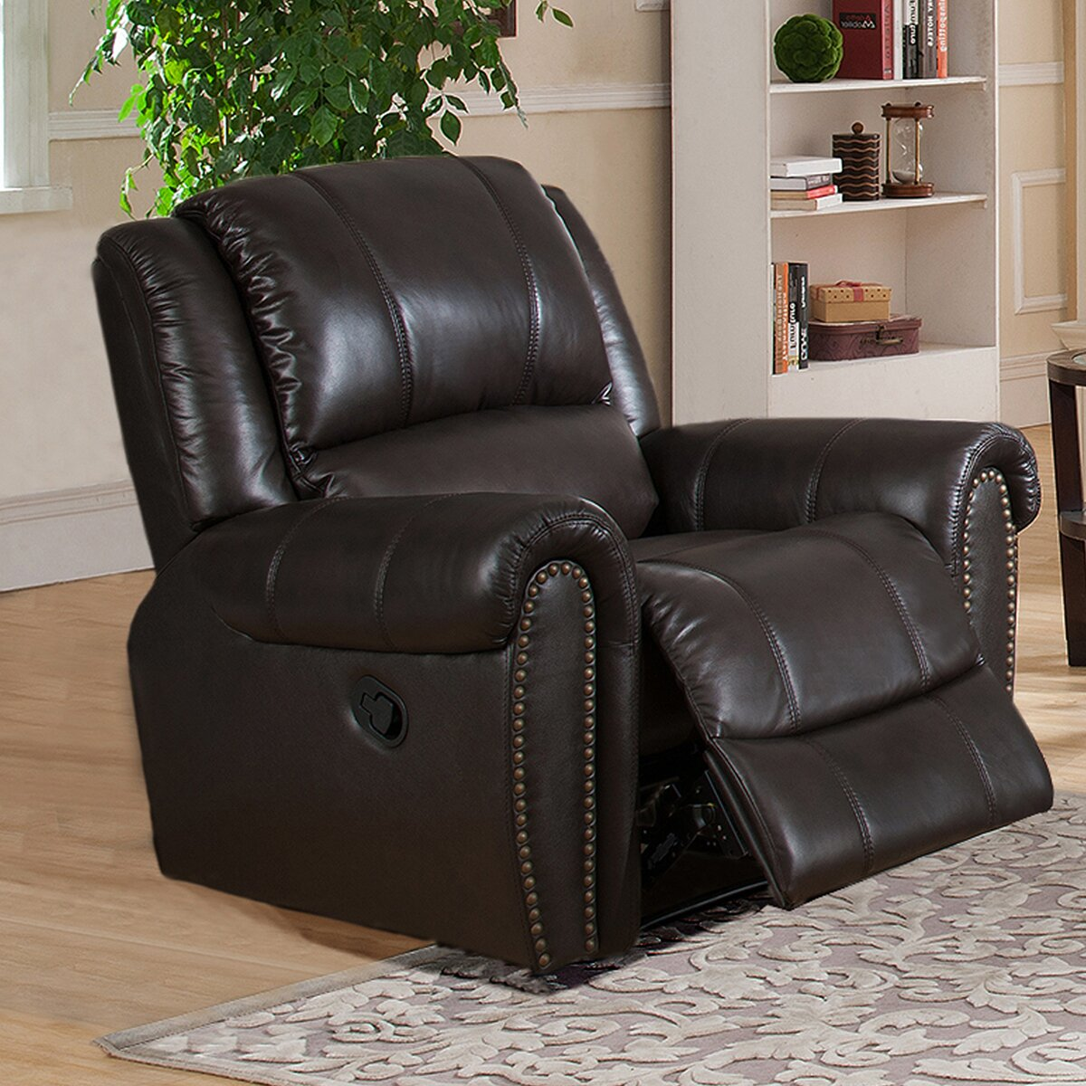 Amax Charlotte 3 Piece Leather Recliner Living Room Set