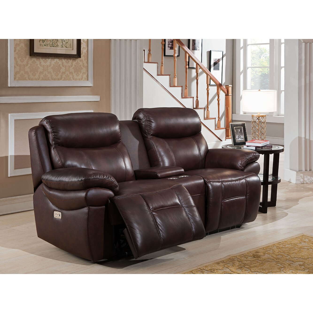 Amax Sanford 3 Piece Leather Power Reclining Living Room