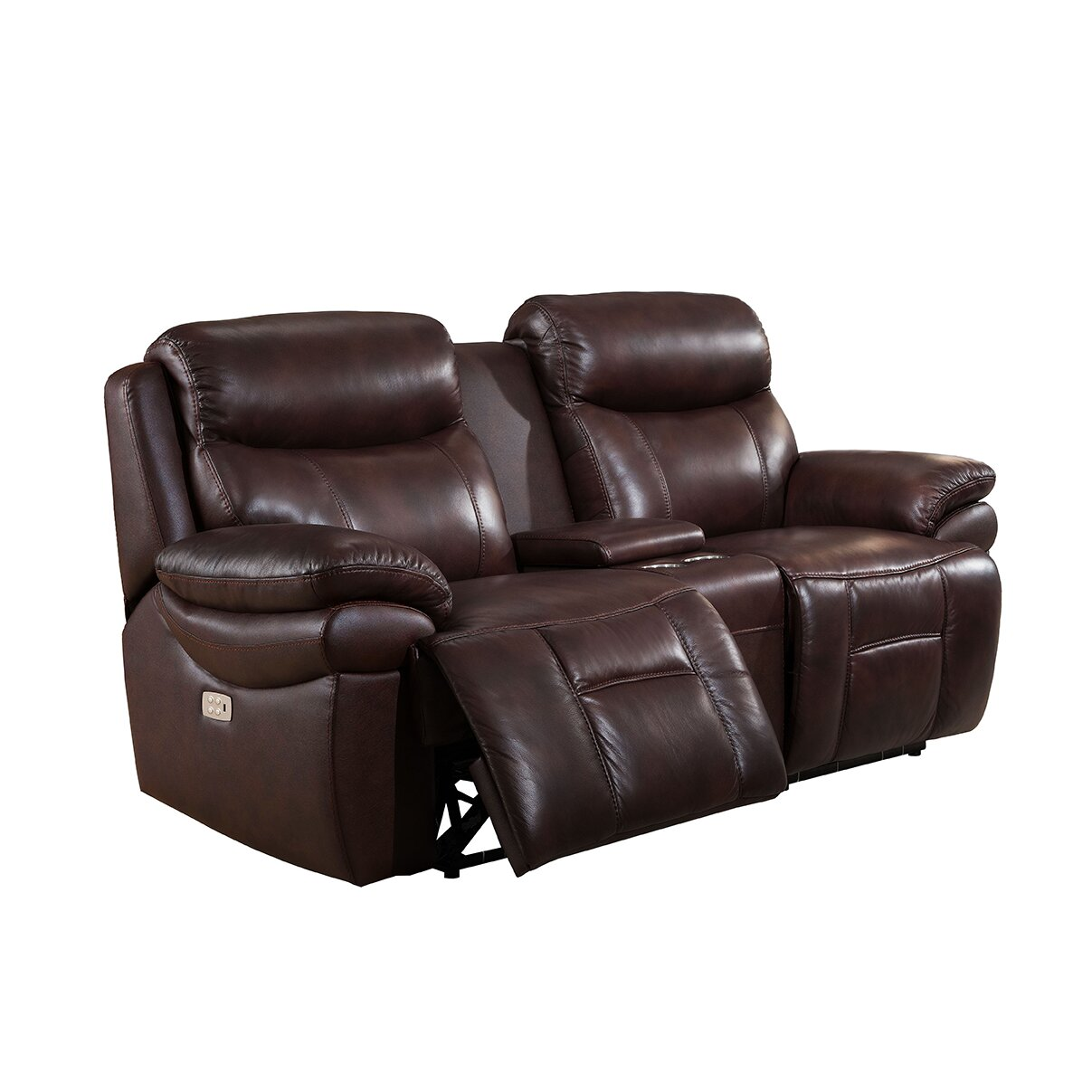 sanford 3 piece leather power reclining living room set with usb ports