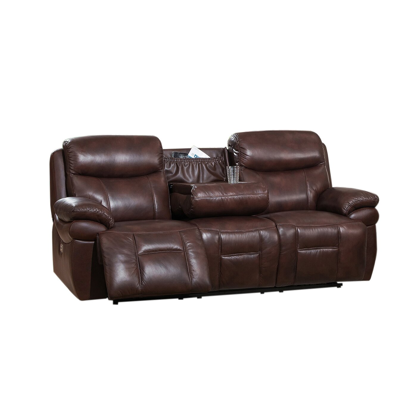 Amax Sanford 2 Piece Leather Power Reclining Living Room