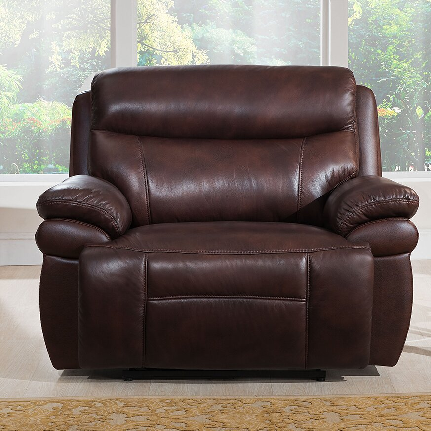 Where To Buy Good Quality Furniture: Amax Sanford Leather Recliner