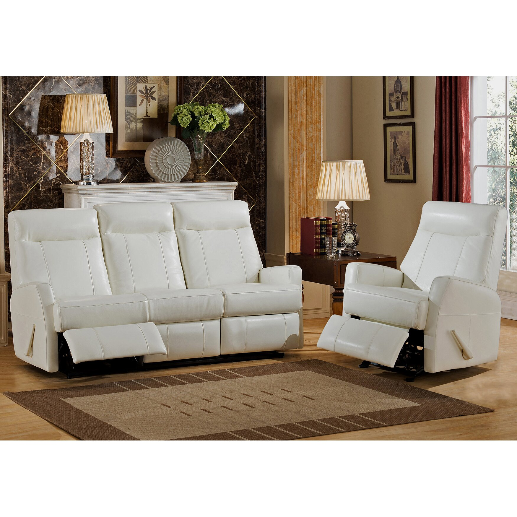 Amax toledo 2 piece leather living room set wayfair Living room furniture toledo ohio