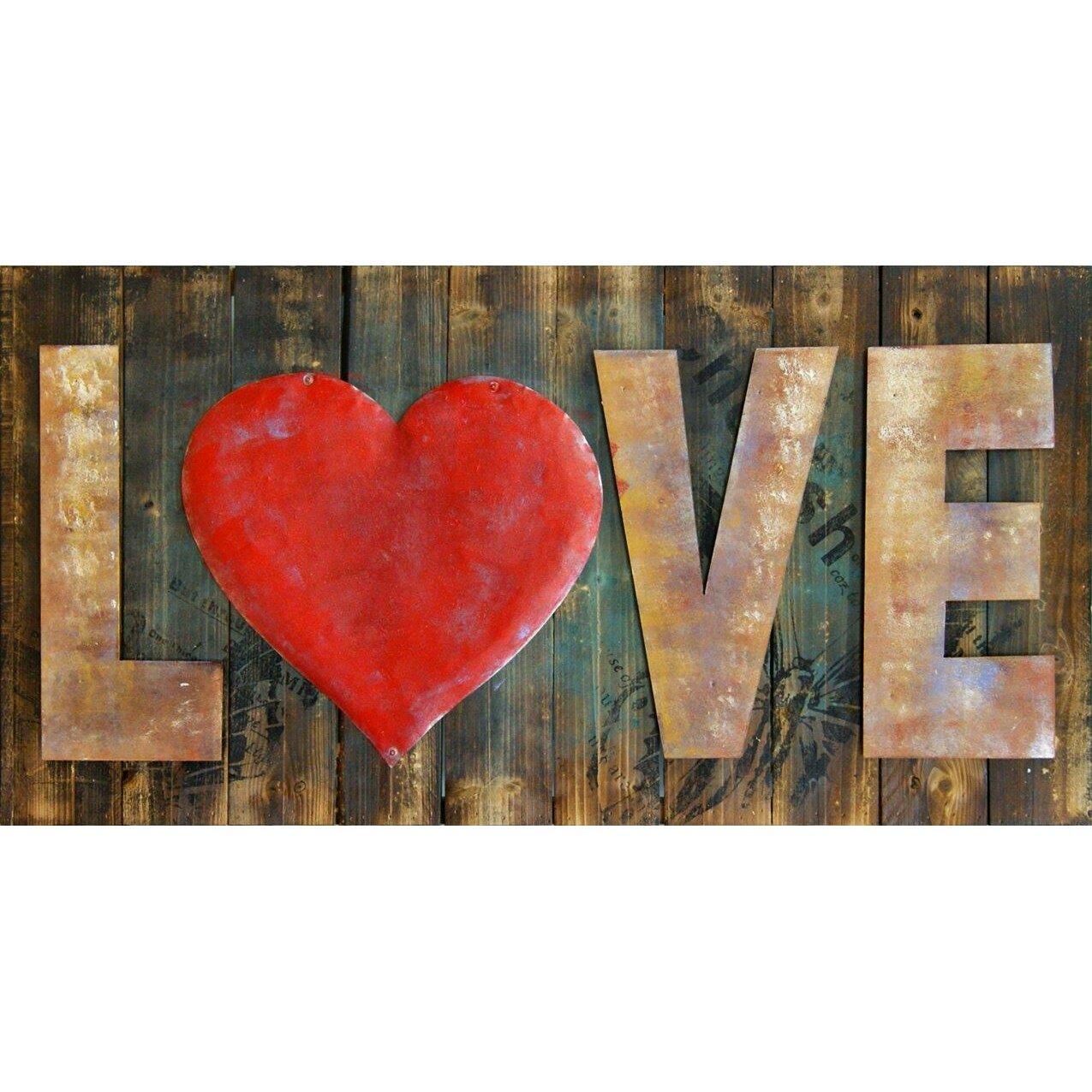 Red Love Wall Decor : Hdc international d love red heart wall decor reviews