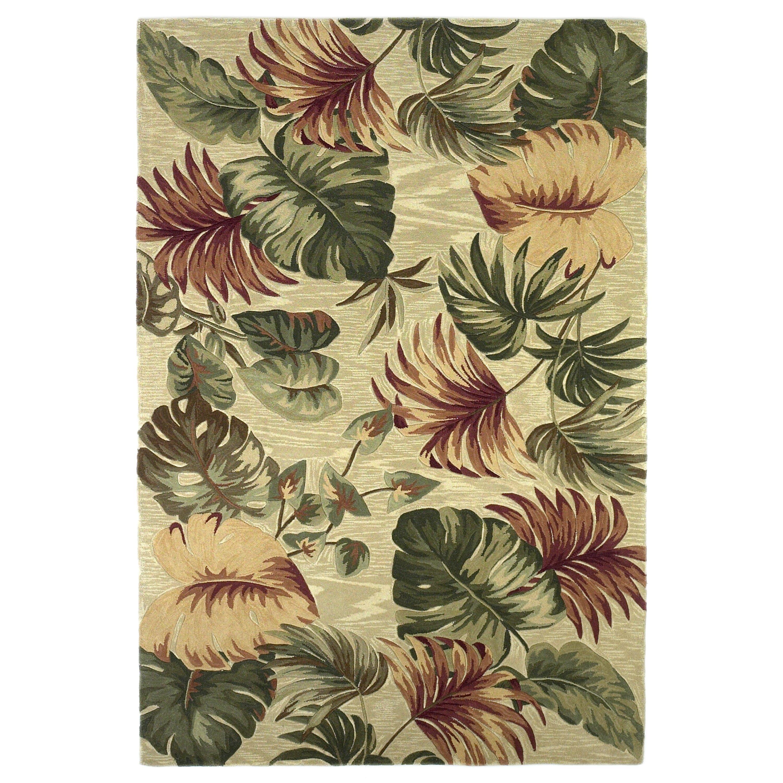 kas rugs sparta beige palm leaves area rug reviews wayfair. Black Bedroom Furniture Sets. Home Design Ideas