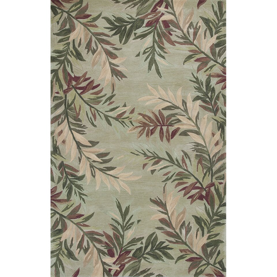 KAS Rugs Sparta Sage Tropical Branches Area Rug & Reviews