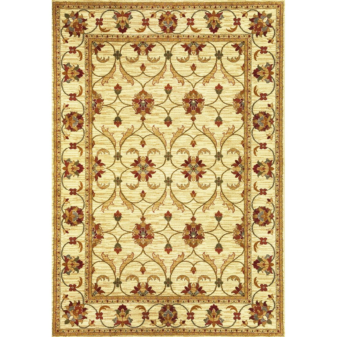 KAS Rugs Lifestyles Ivory Agra Area Rug & Reviews