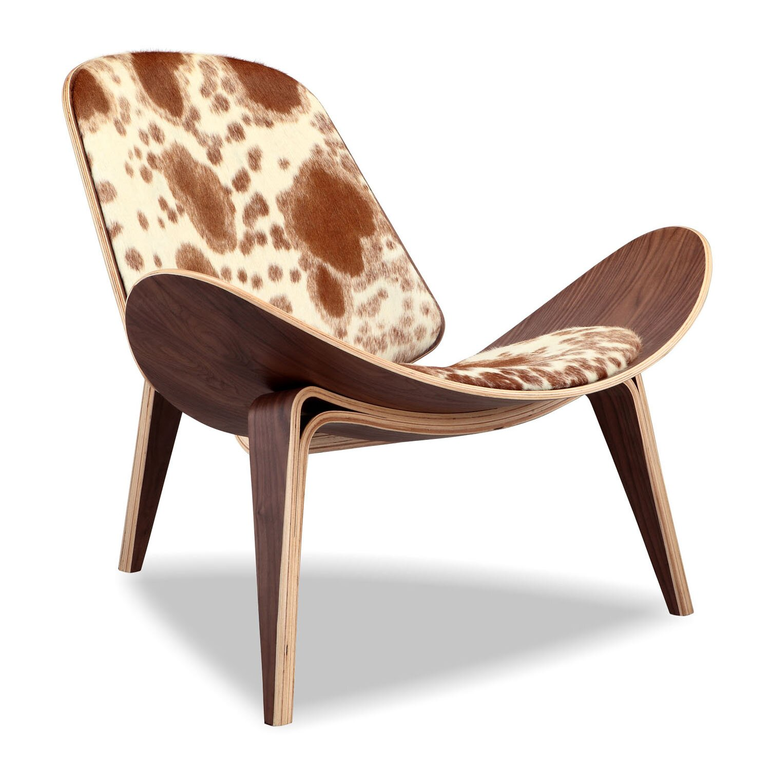 Kar l Tripod Plywood Modern Lounge Chair