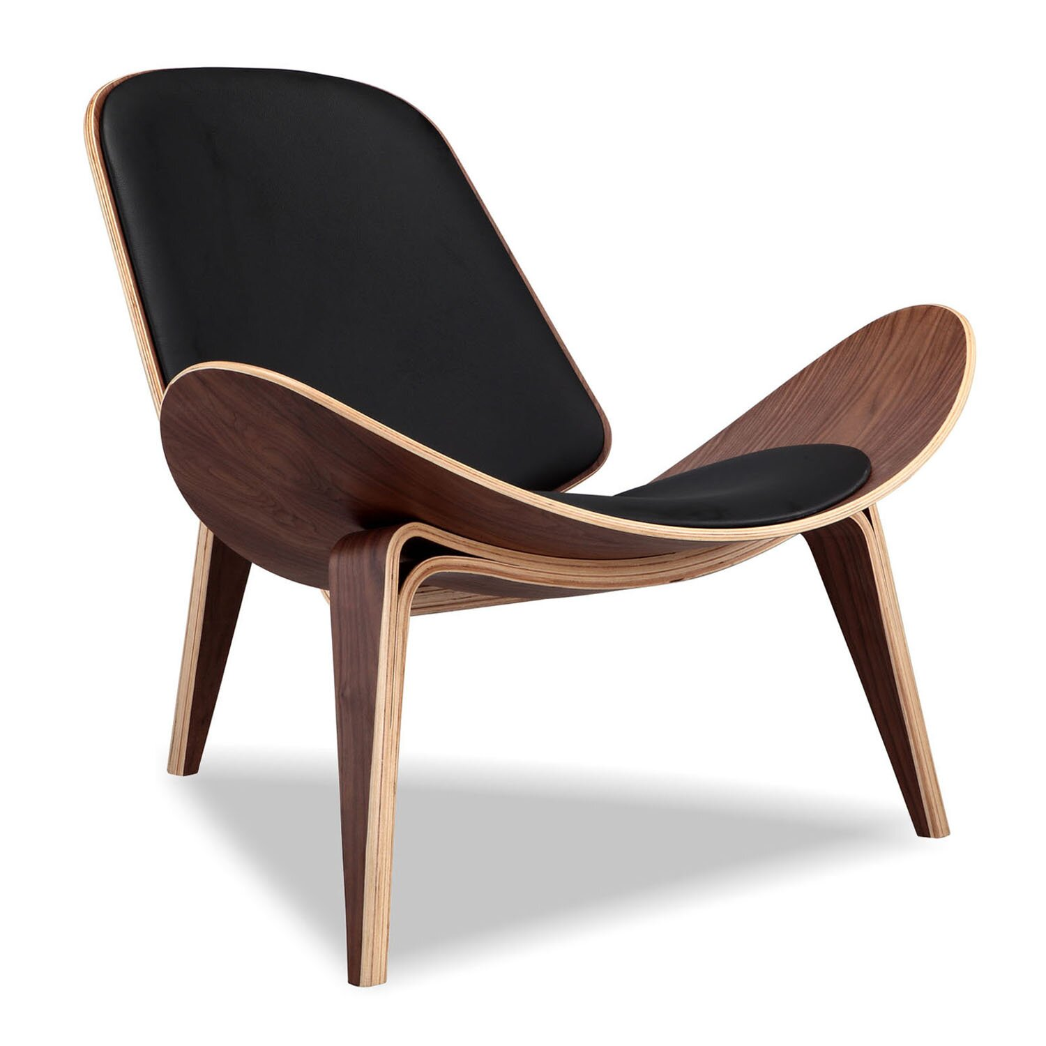 Kardiel plywood modern lounge chair reviews wayfair for Contemporary lounge furniture