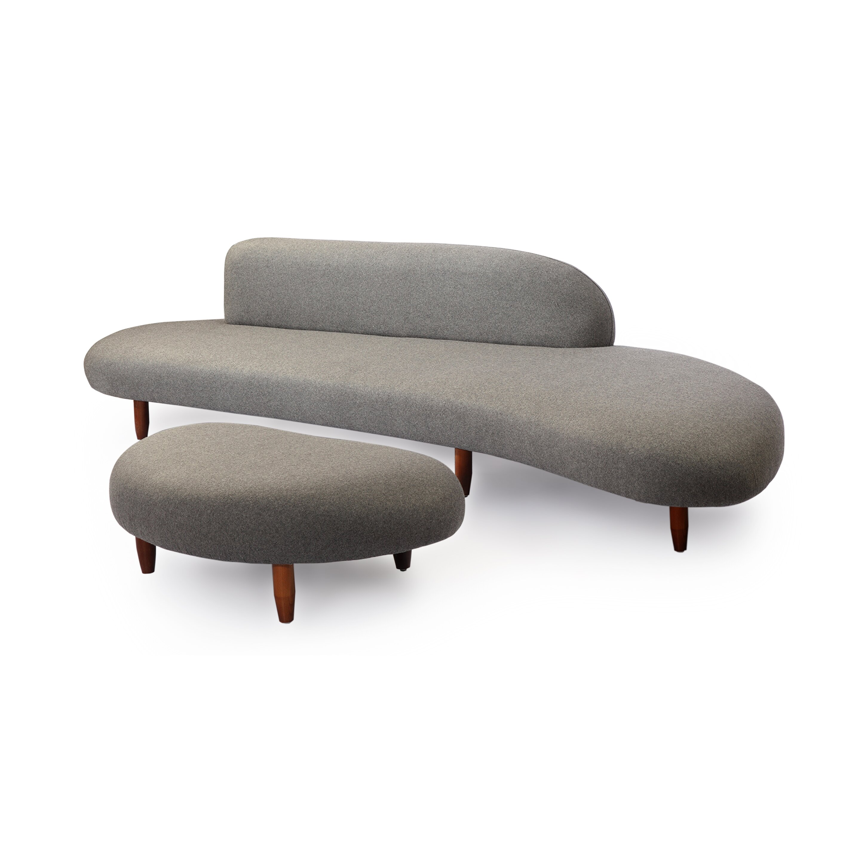 Kardiel kidney bean mid century modern sofa and ottoman set reviews wayfair - Mid century modern chair and ottoman ...