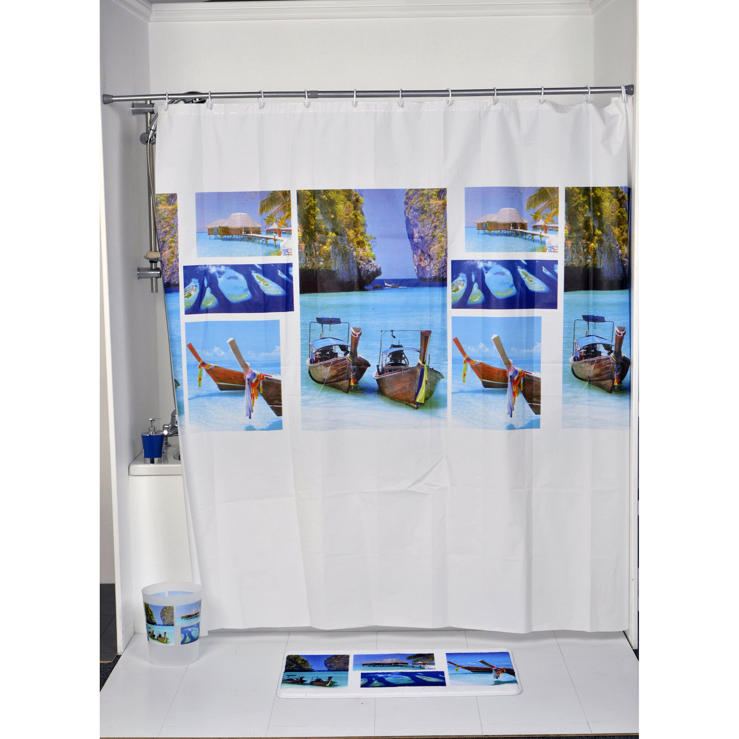 Evideco Paradise Printed Shower Curtain Amp Reviews