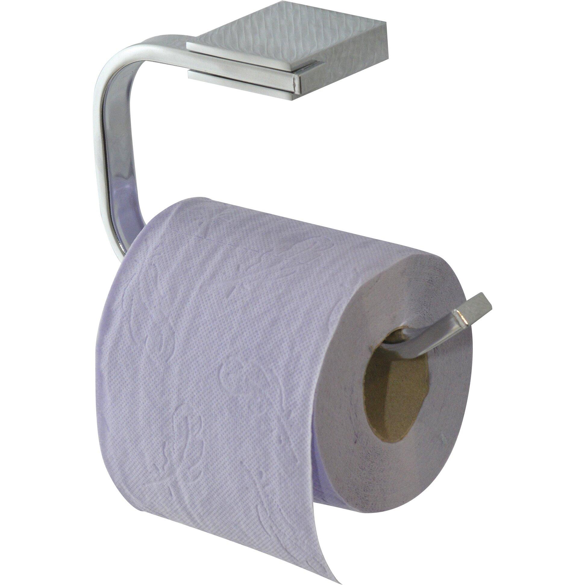 evideco wall mounted toilet paper holder wayfair. Black Bedroom Furniture Sets. Home Design Ideas
