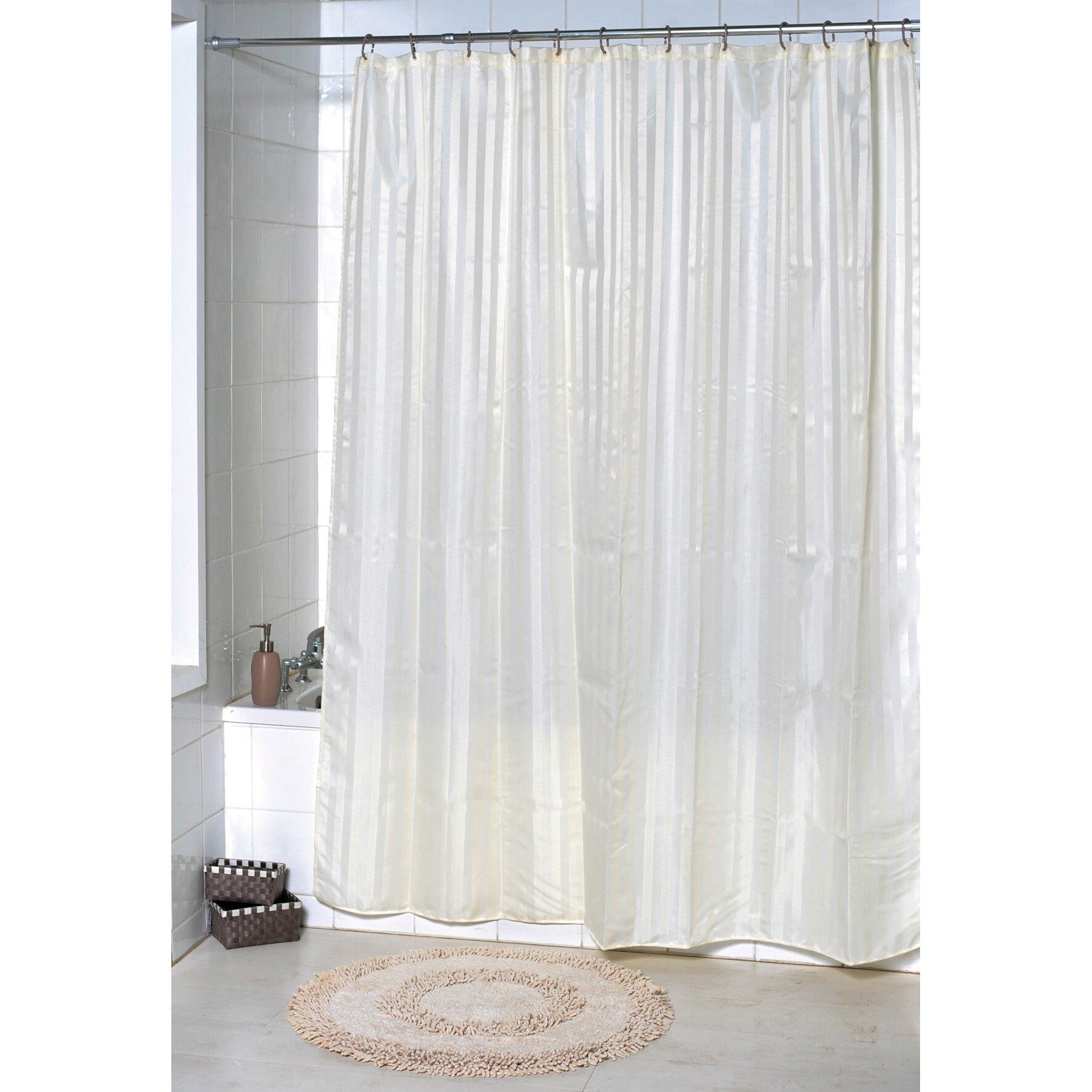 evideco vertical stripes shower curtain wayfair. Black Bedroom Furniture Sets. Home Design Ideas